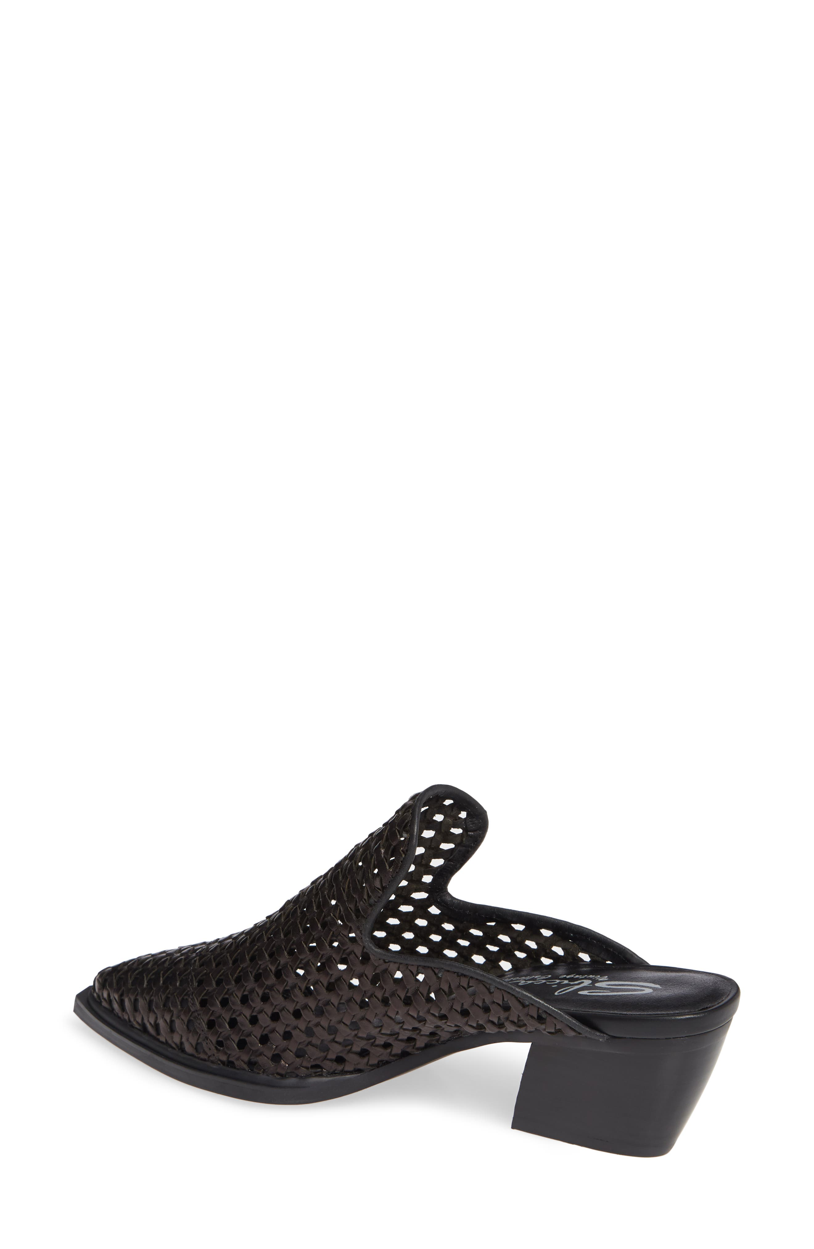 SBICCA, Louise Woven Mule, Alternate thumbnail 2, color, BLACK LEATHER
