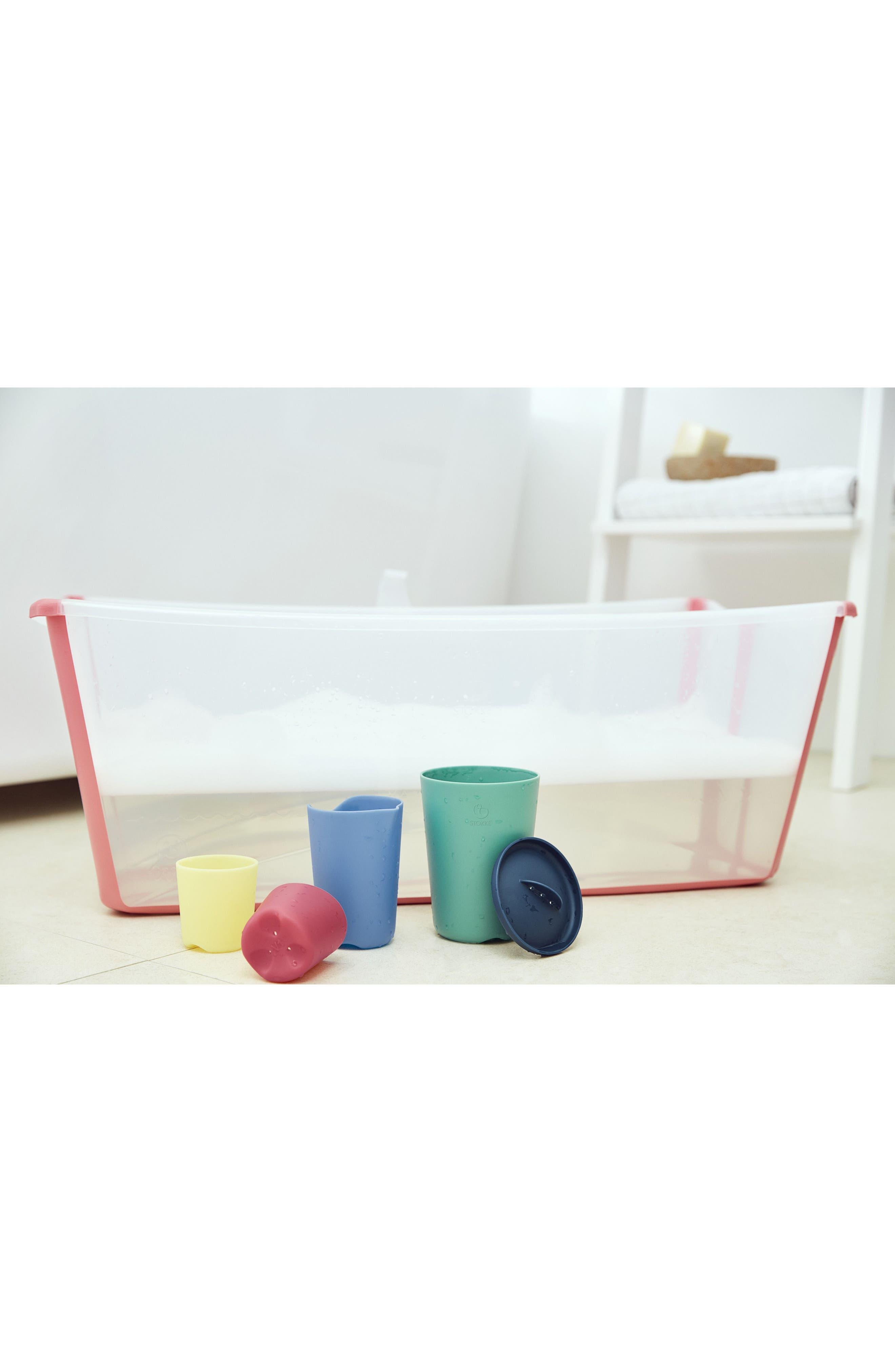 STOKKE, Flexi Bath<sup>®</sup> 5-Piece Toy Cups Set, Alternate thumbnail 5, color, 300
