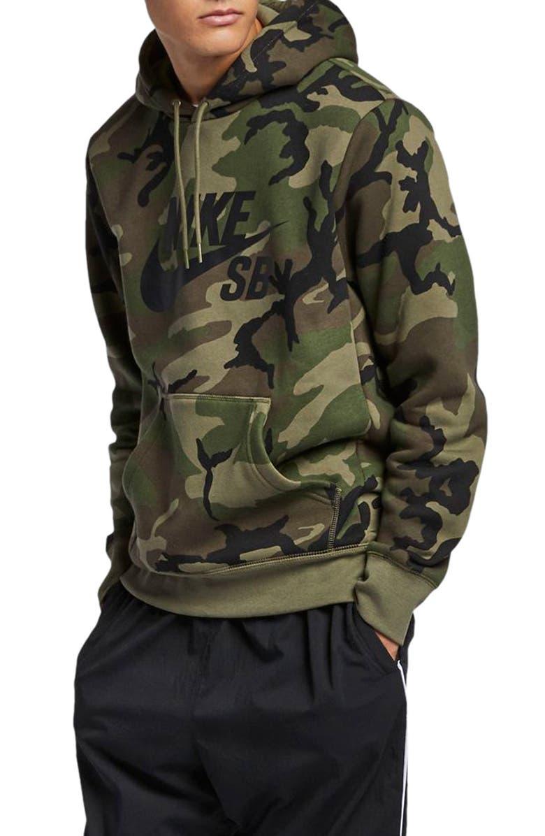 0b13393aa68 Nike SB Icon Camo Hoodie