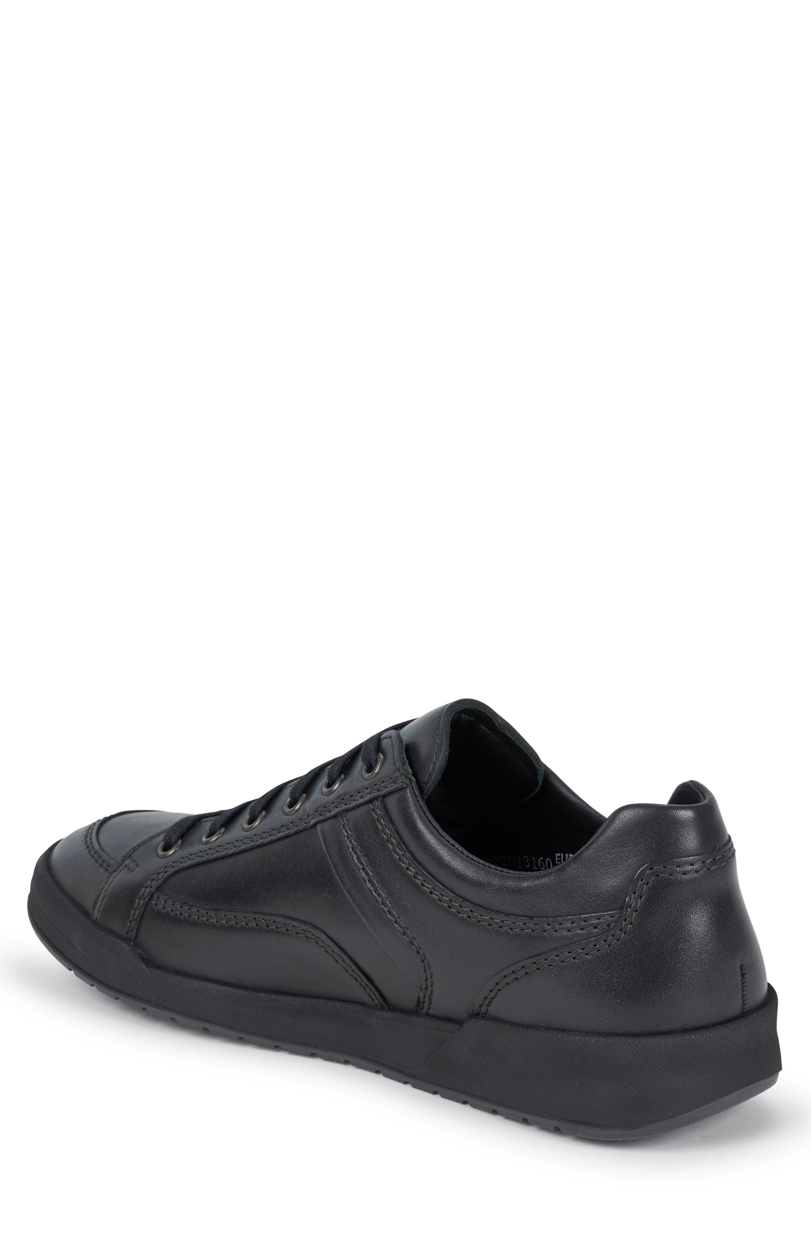 MEPHISTO, 'Rodrigo' Sneaker, Alternate thumbnail 2, color, BLACK/BLACK LEATHER