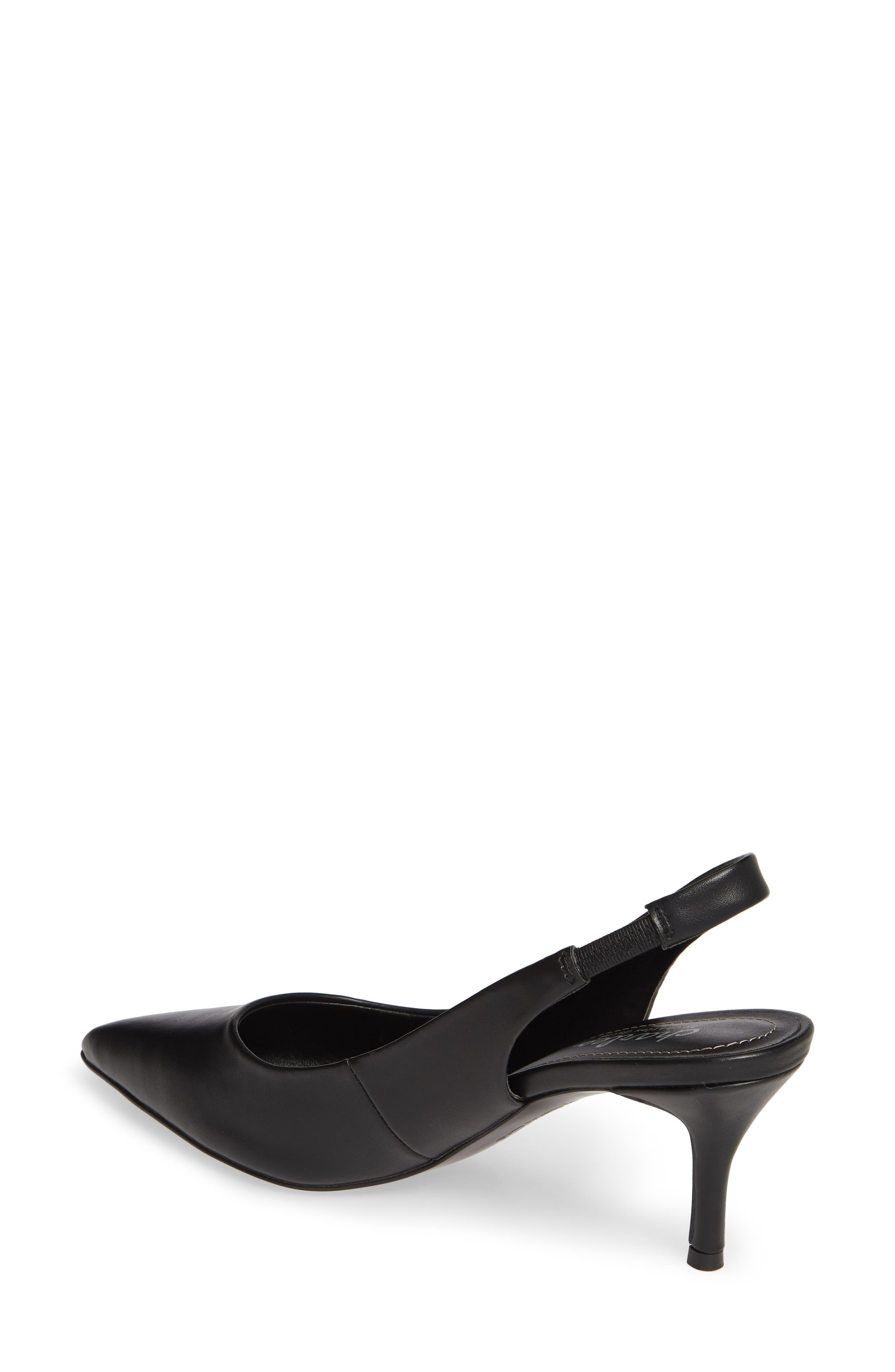 CHARLES BY CHARLES DAVID, Amy Slingback Pump, Alternate thumbnail 2, color, BLACK FAUX LEATHER