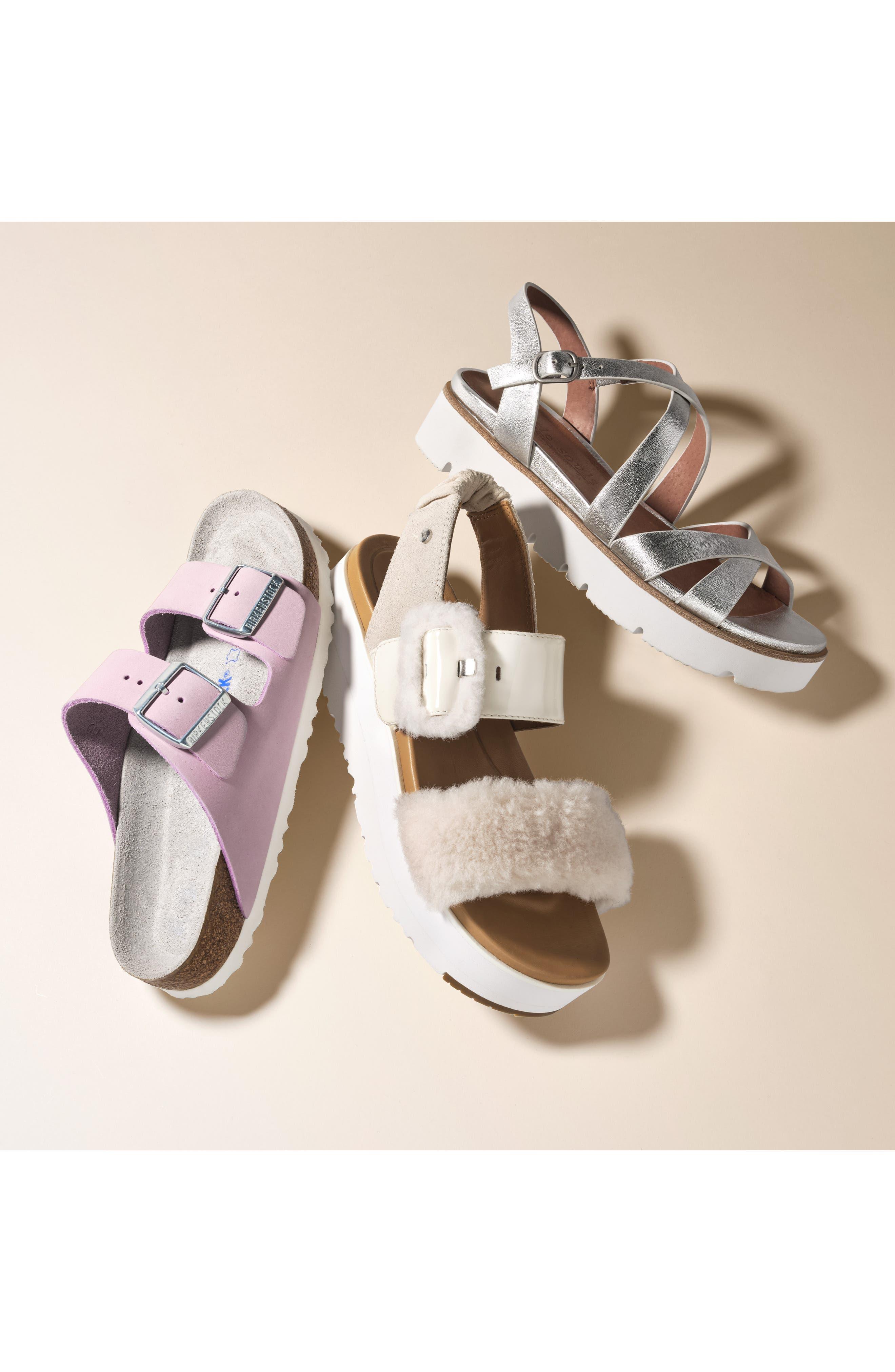 BIRKENSTOCK, Arizona Soft Footbed Sandal, Alternate thumbnail 7, color, LILAC NUBUCK