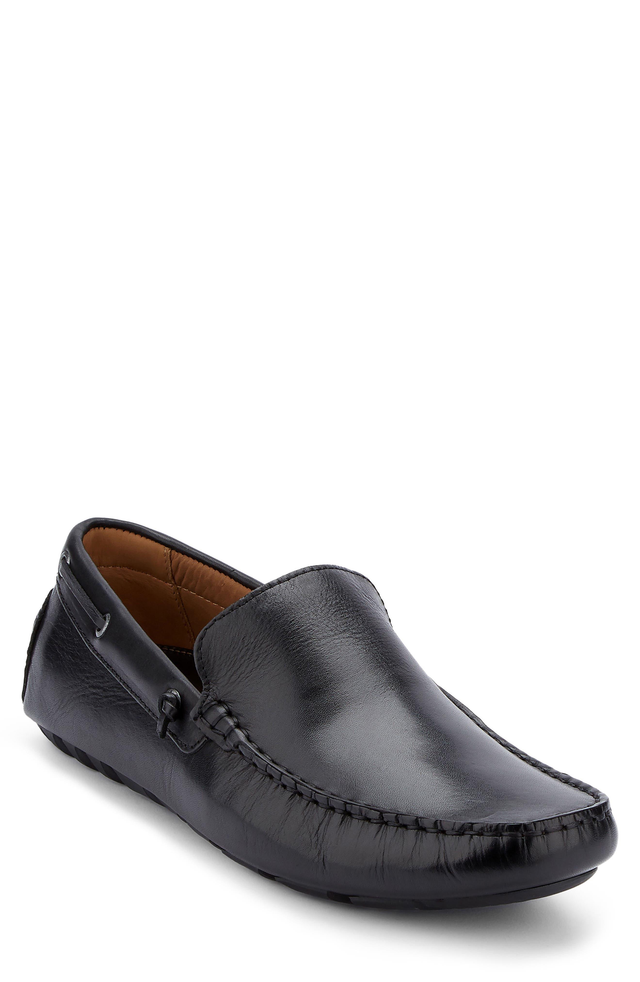 G.H. BASS & CO., Walter Driving Shoe, Main thumbnail 1, color, BLACK