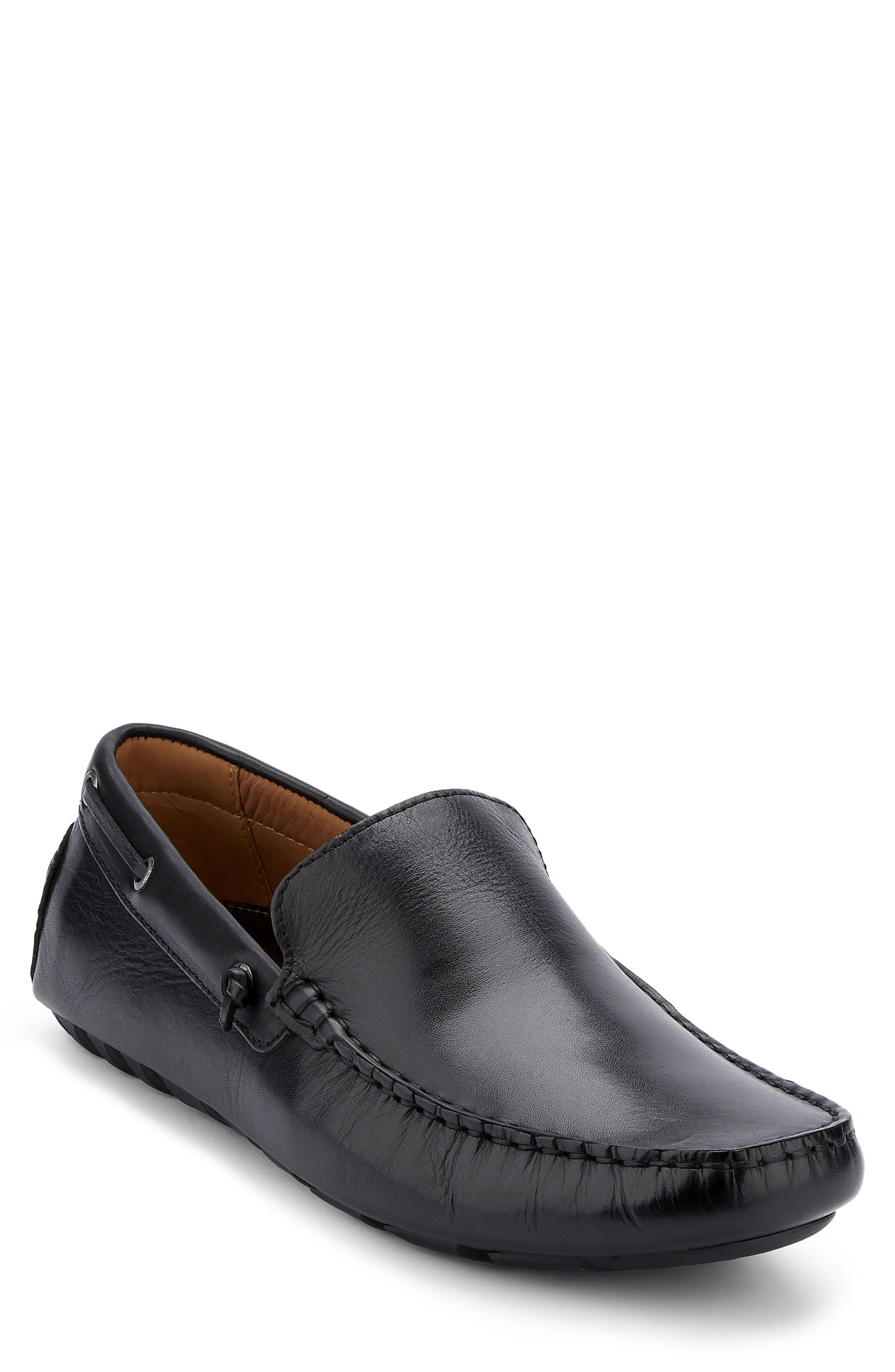 G.H. BASS & CO. Walter Driving Shoe, Main, color, BLACK