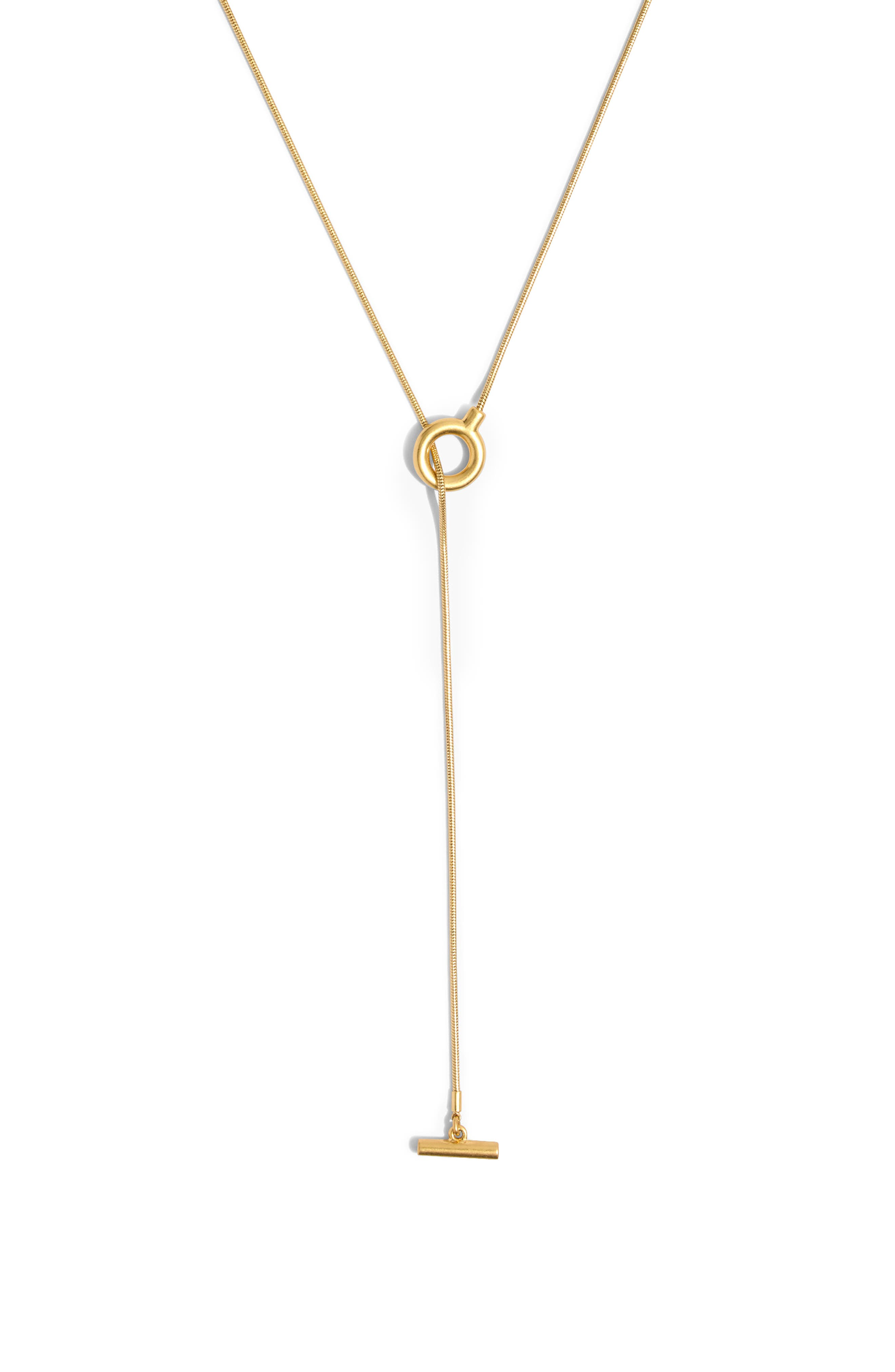 MADEWELL, Toggle Lariat Necklace, Alternate thumbnail 2, color, VINTAGE GOLD