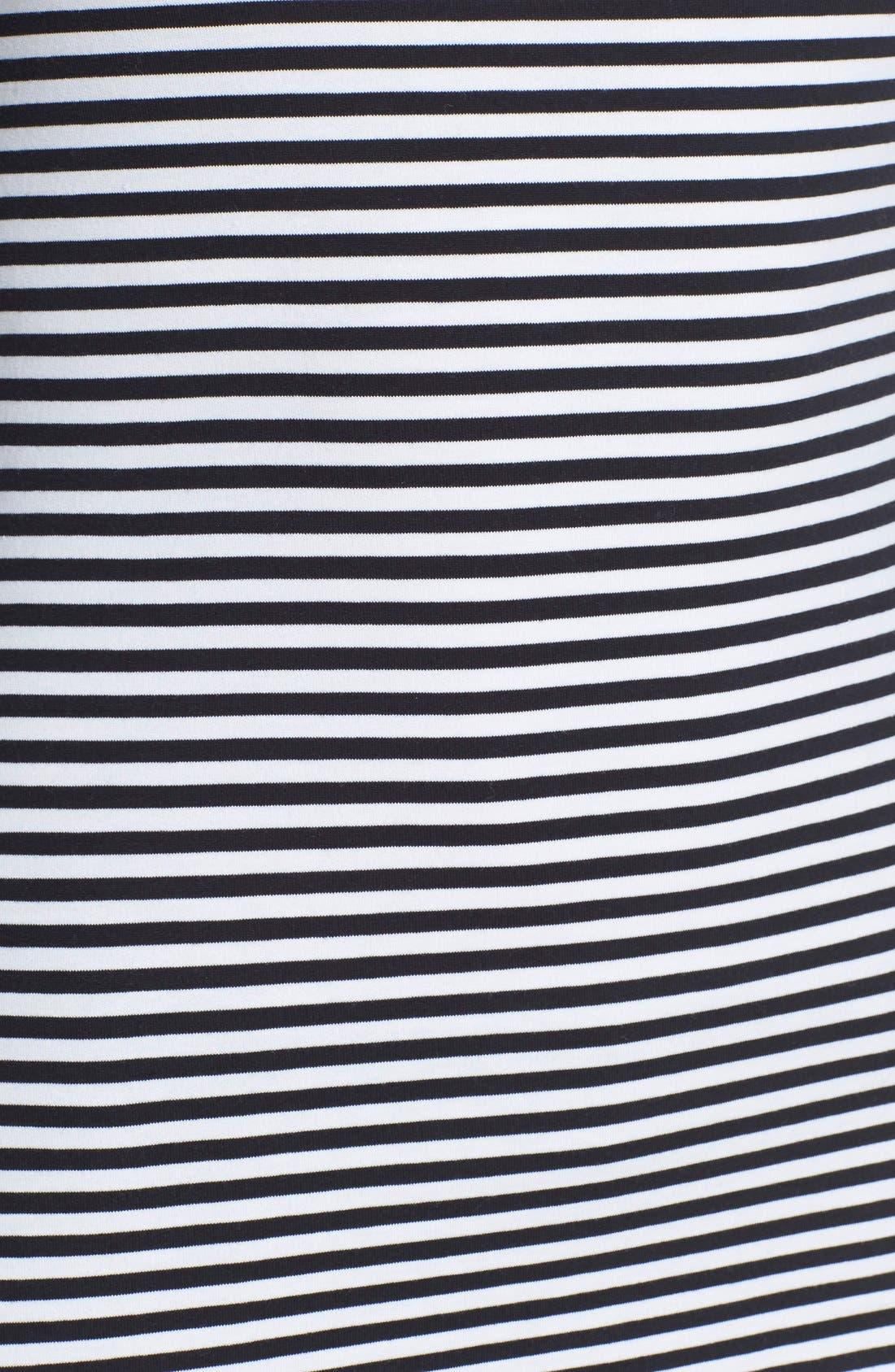 THEORY, 'Ennayln B' Stripe Scoop Neck Top, Alternate thumbnail 5, color, 009