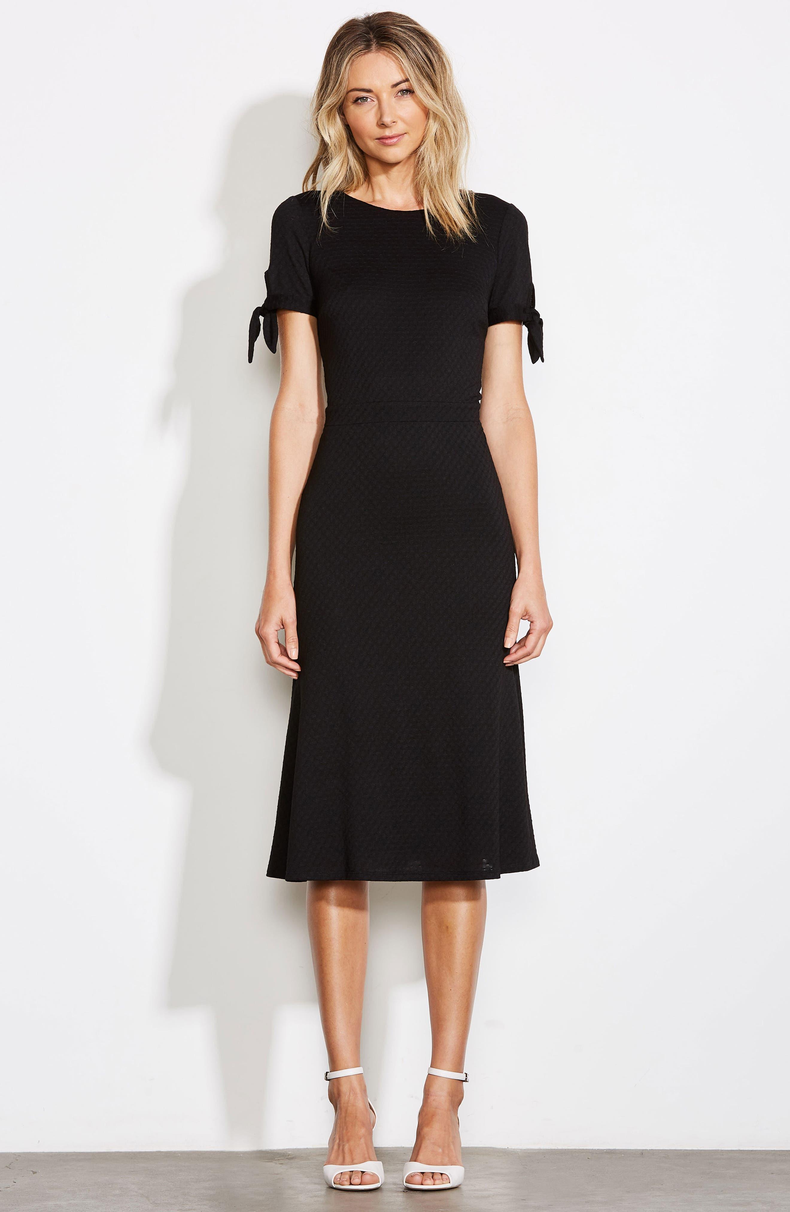 ALI & JAY, Bunker Hill Textured Midi Dress, Alternate thumbnail 8, color, 001
