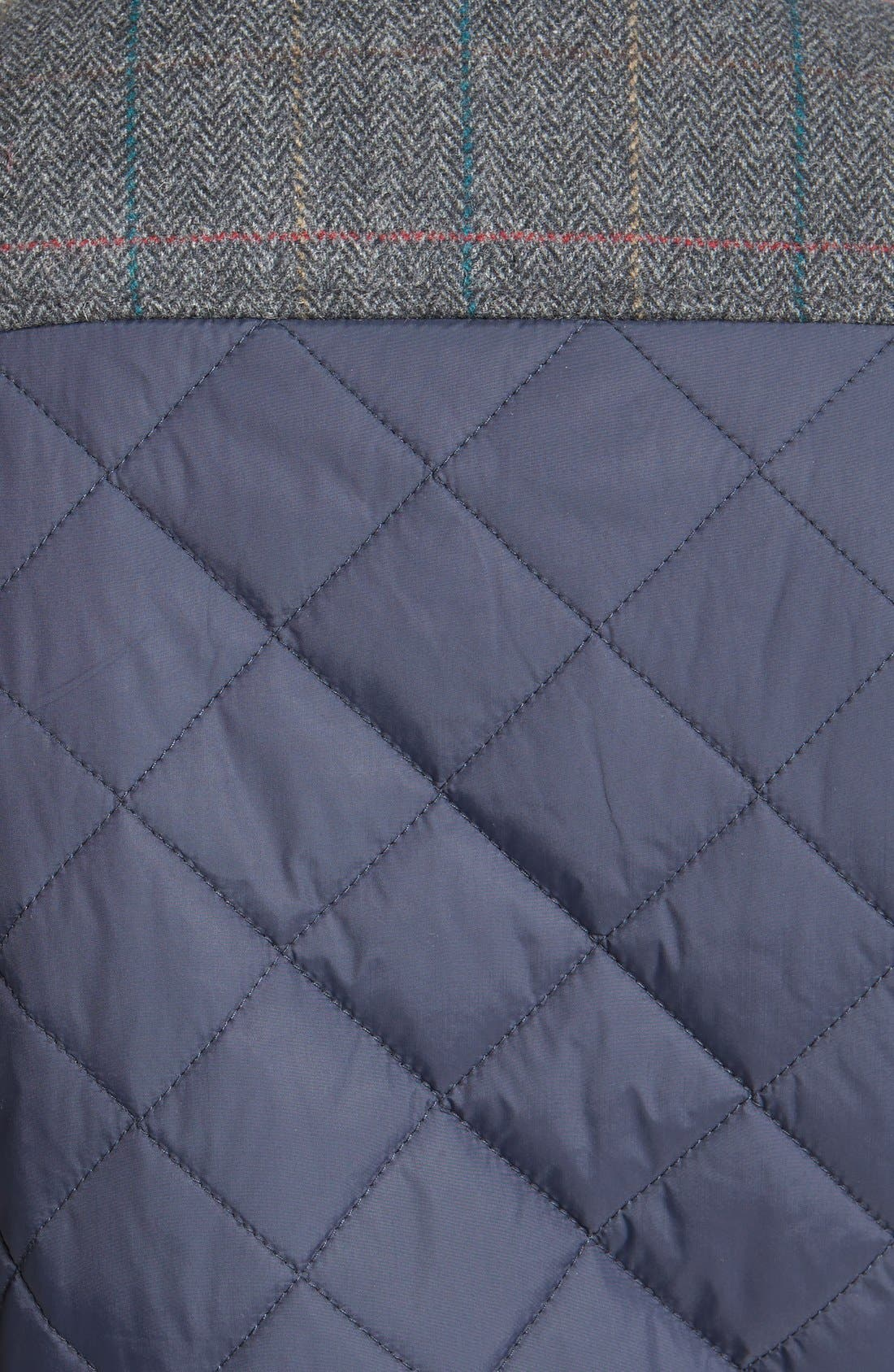 VINCE CAMUTO, Diamond Quilted Full Zip Jacket, Alternate thumbnail 12, color, NAVY