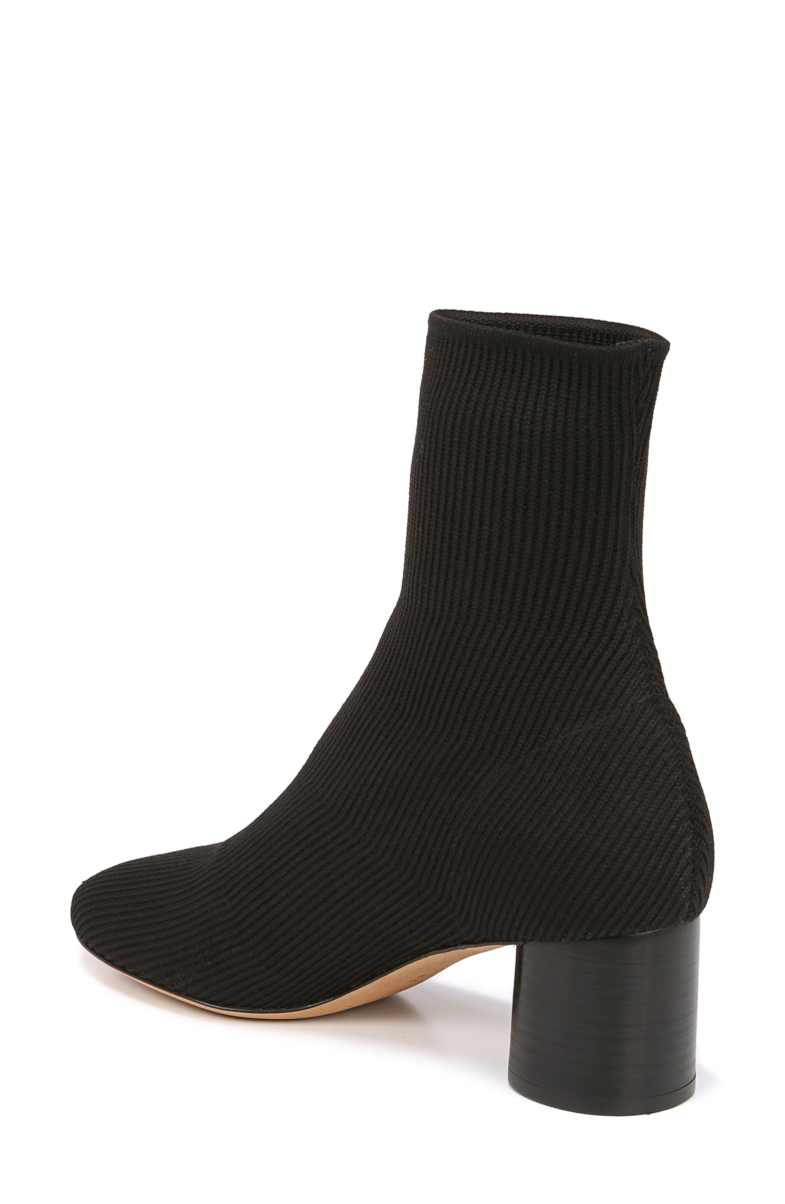VINCE, Tasha Sock Bootie, Alternate thumbnail 2, color, BLACK