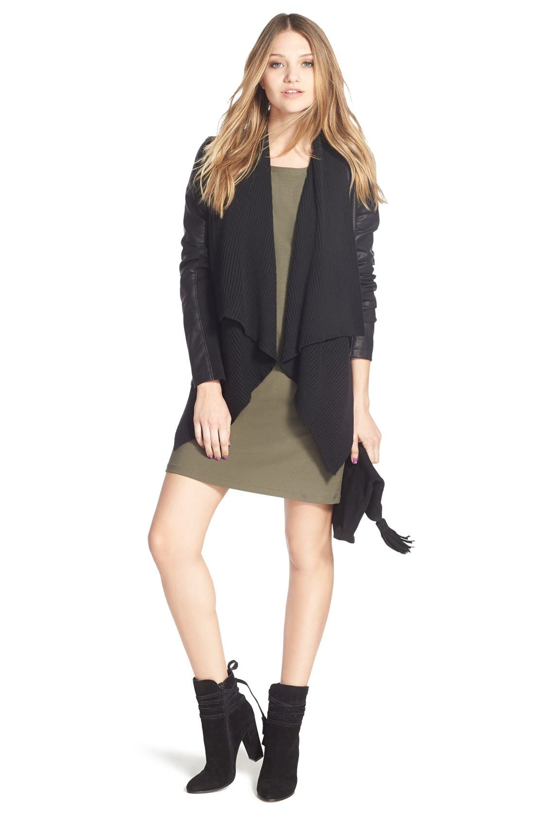 BLANKNYC, All or Nothing Faux Leather Jacket, Alternate thumbnail 2, color, 001
