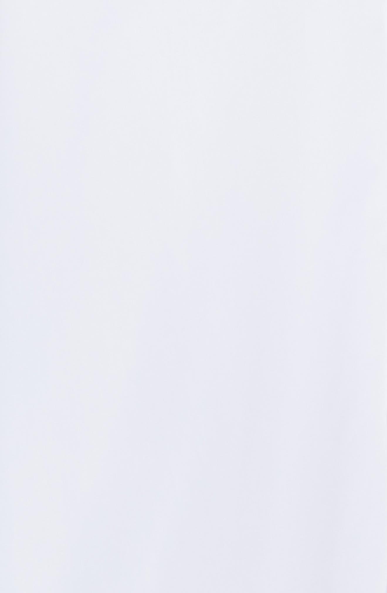 HELMUT LANG, Logo Back Long Sleeve Woven Shirt, Alternate thumbnail 7, color, WHITE AND BLACK