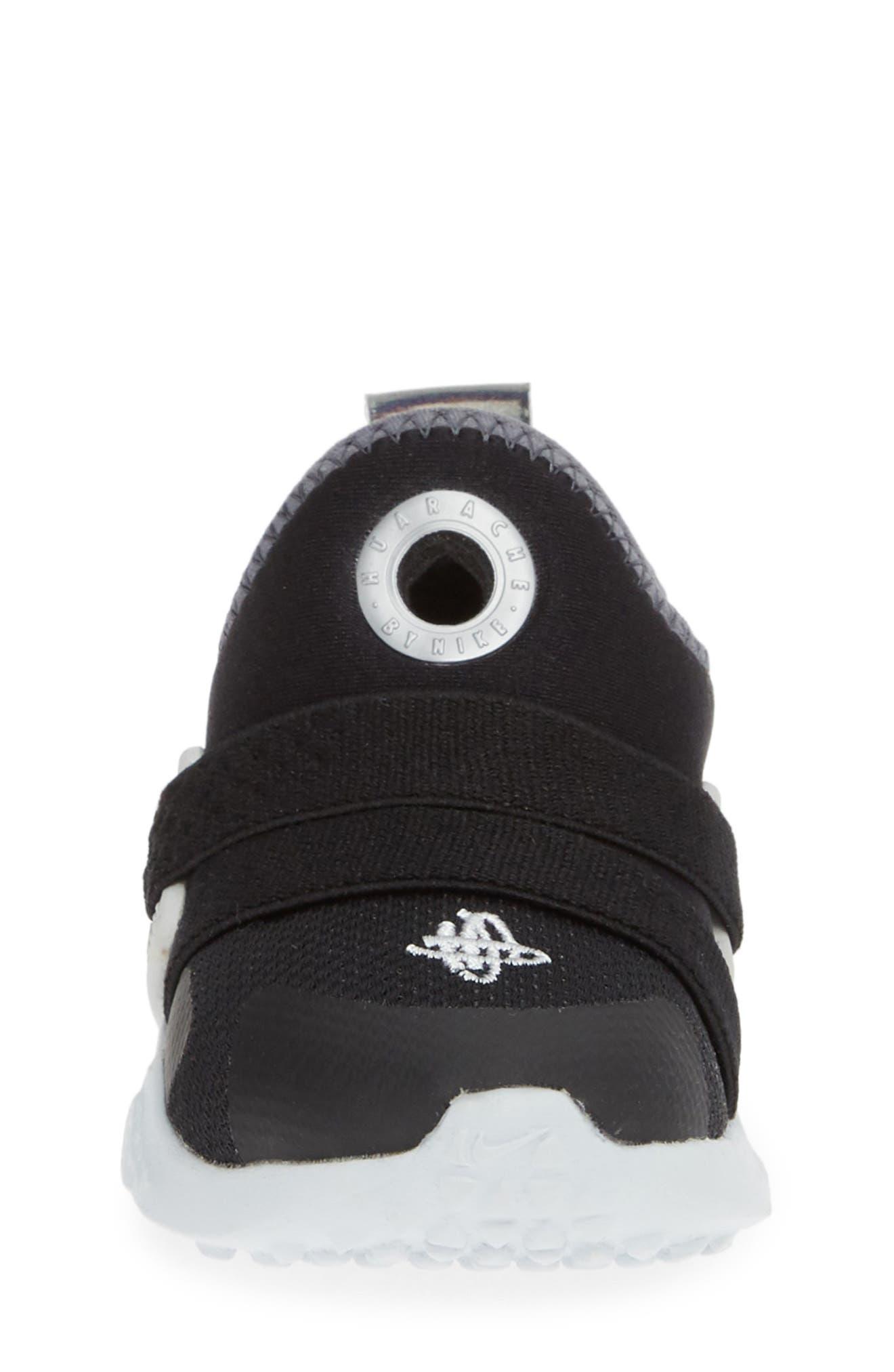 NIKE, Huarache Extreme Sneaker, Alternate thumbnail 4, color, BLACK/ METALLIC SILVER-GREY