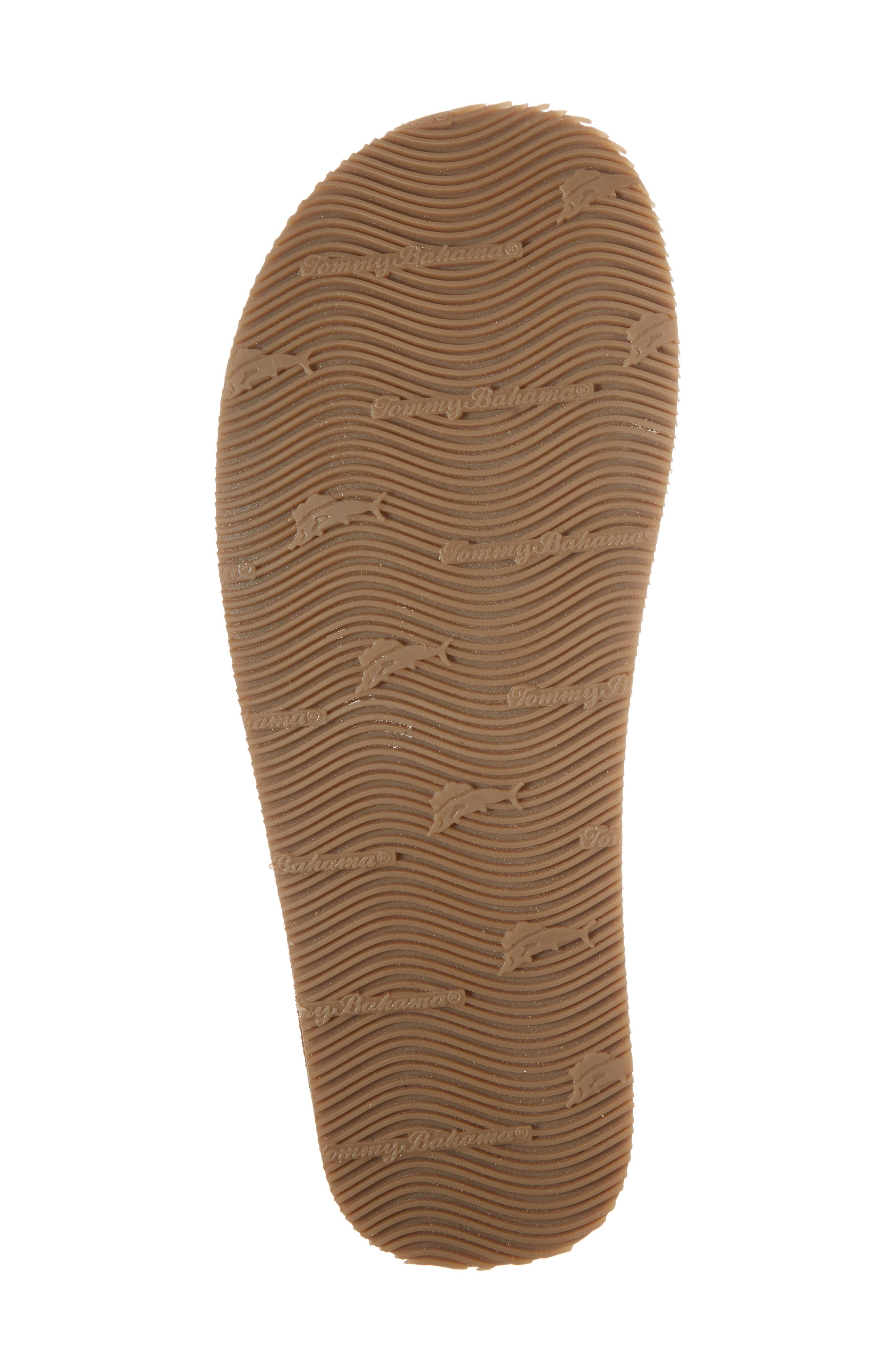 TOMMY BAHAMA, Adderly Flip Flop, Alternate thumbnail 6, color, TAN LEATHER