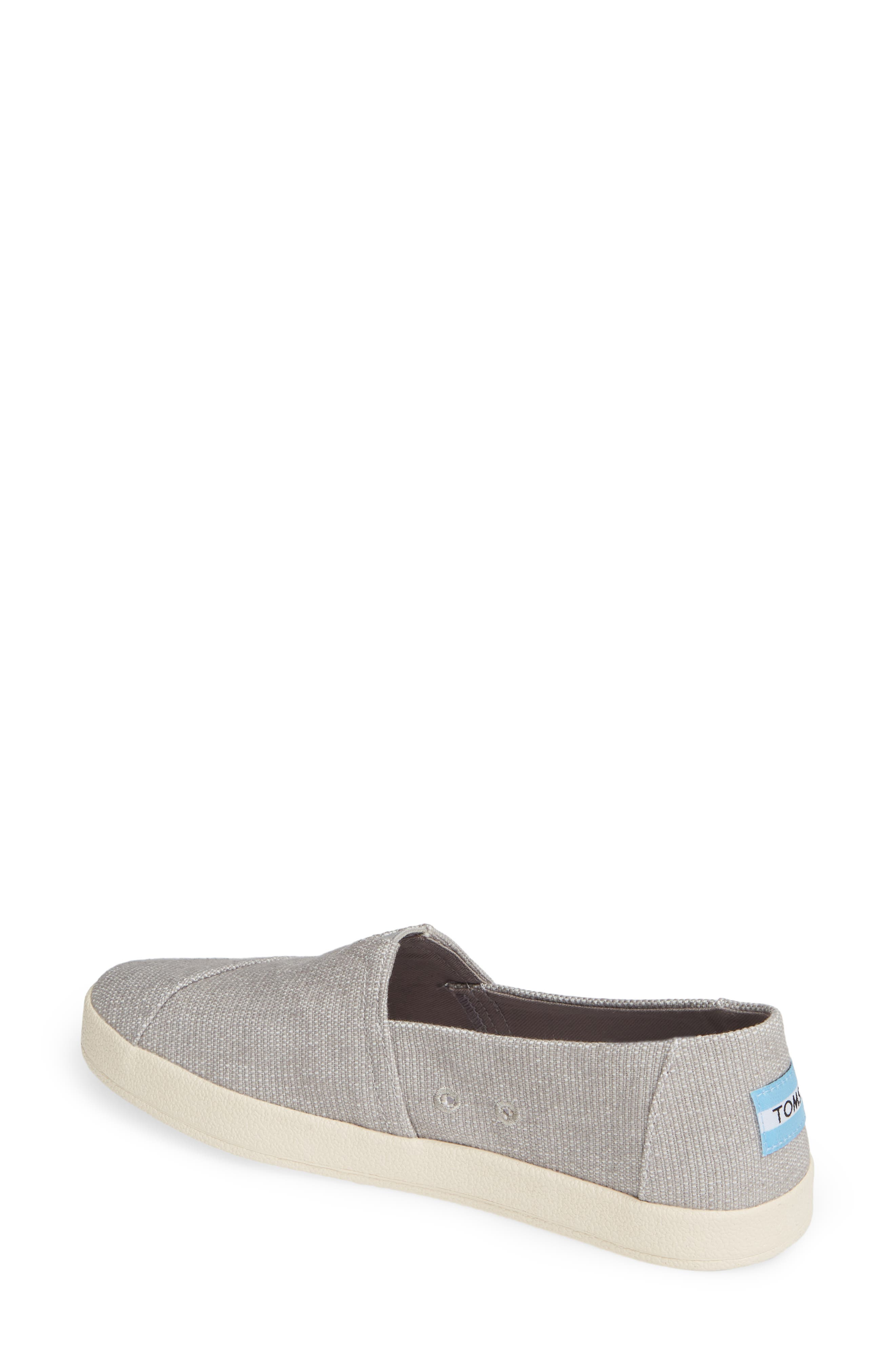 TOMS, Avalon Slip-On Sneaker, Alternate thumbnail 2, color, DRIZZLE GREY CANVAS
