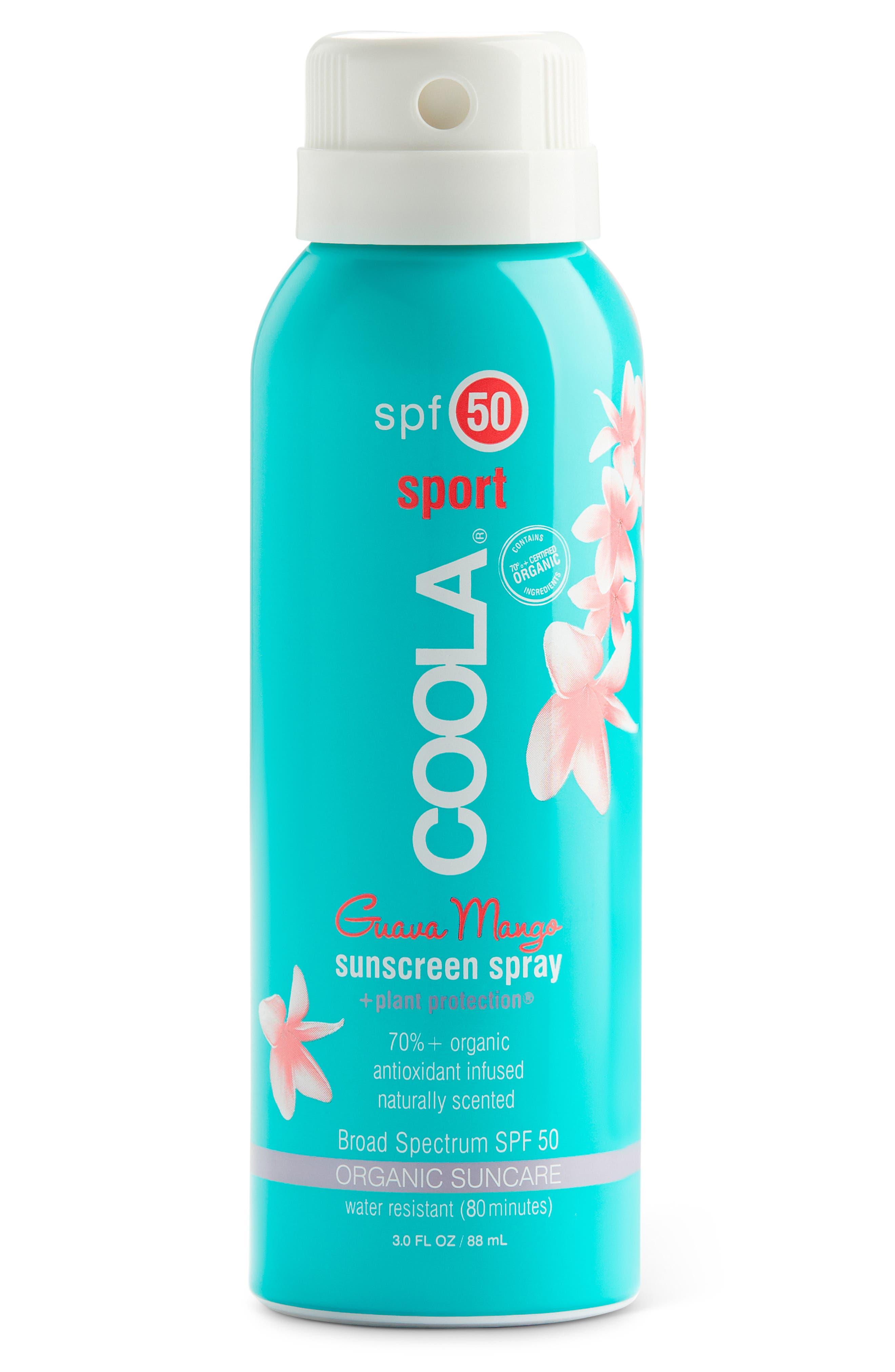 COOLA SUNCARE, COOLA<sup>®</sup> Suncare Guava Mango Eco-Lux Sport Sunscreen Spray SPF 50, Alternate thumbnail 2, color, NO COLOR