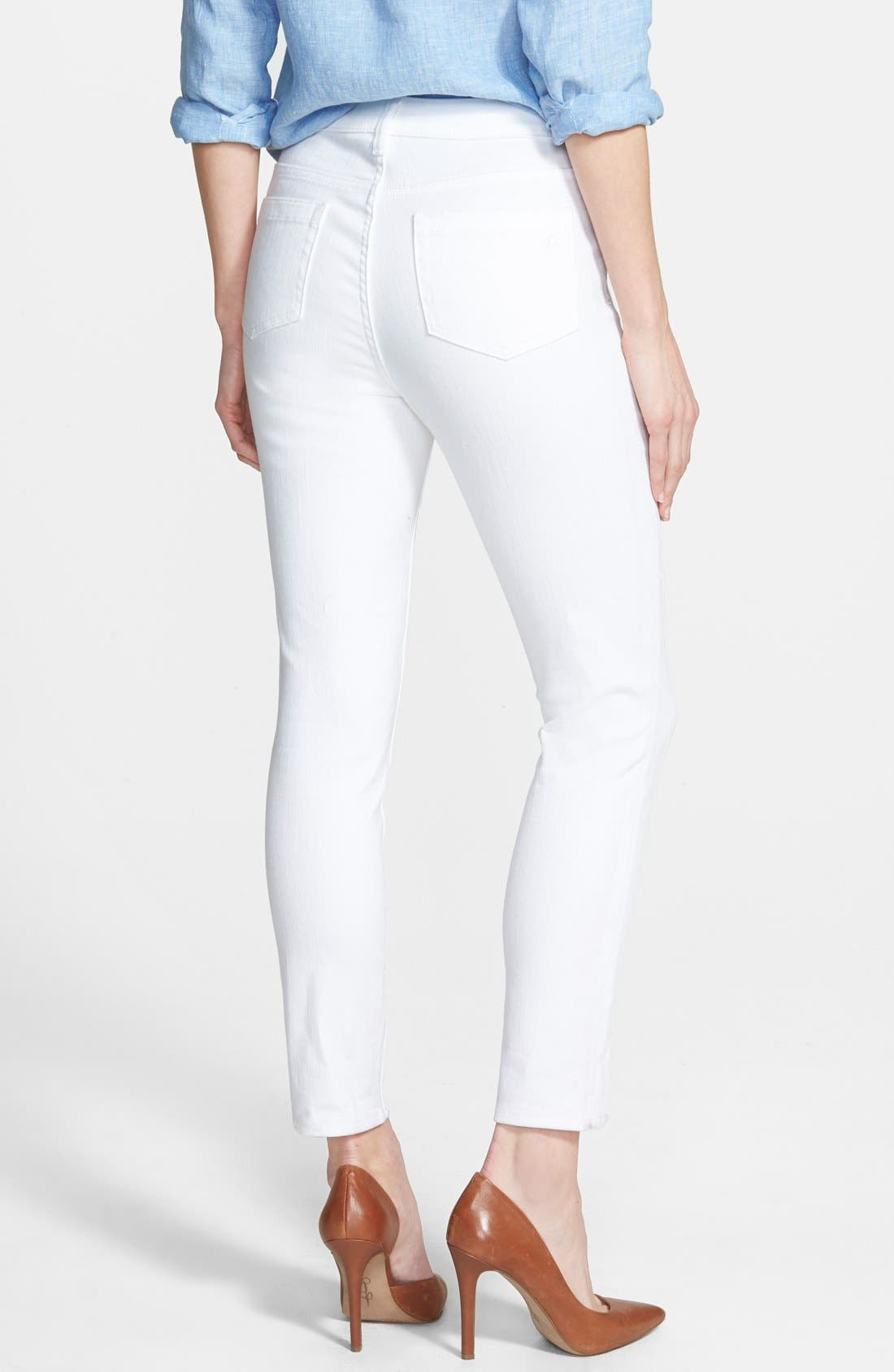 VINCE CAMUTO, Skinny Jeans, Alternate thumbnail 5, color, ULTRA WHITE
