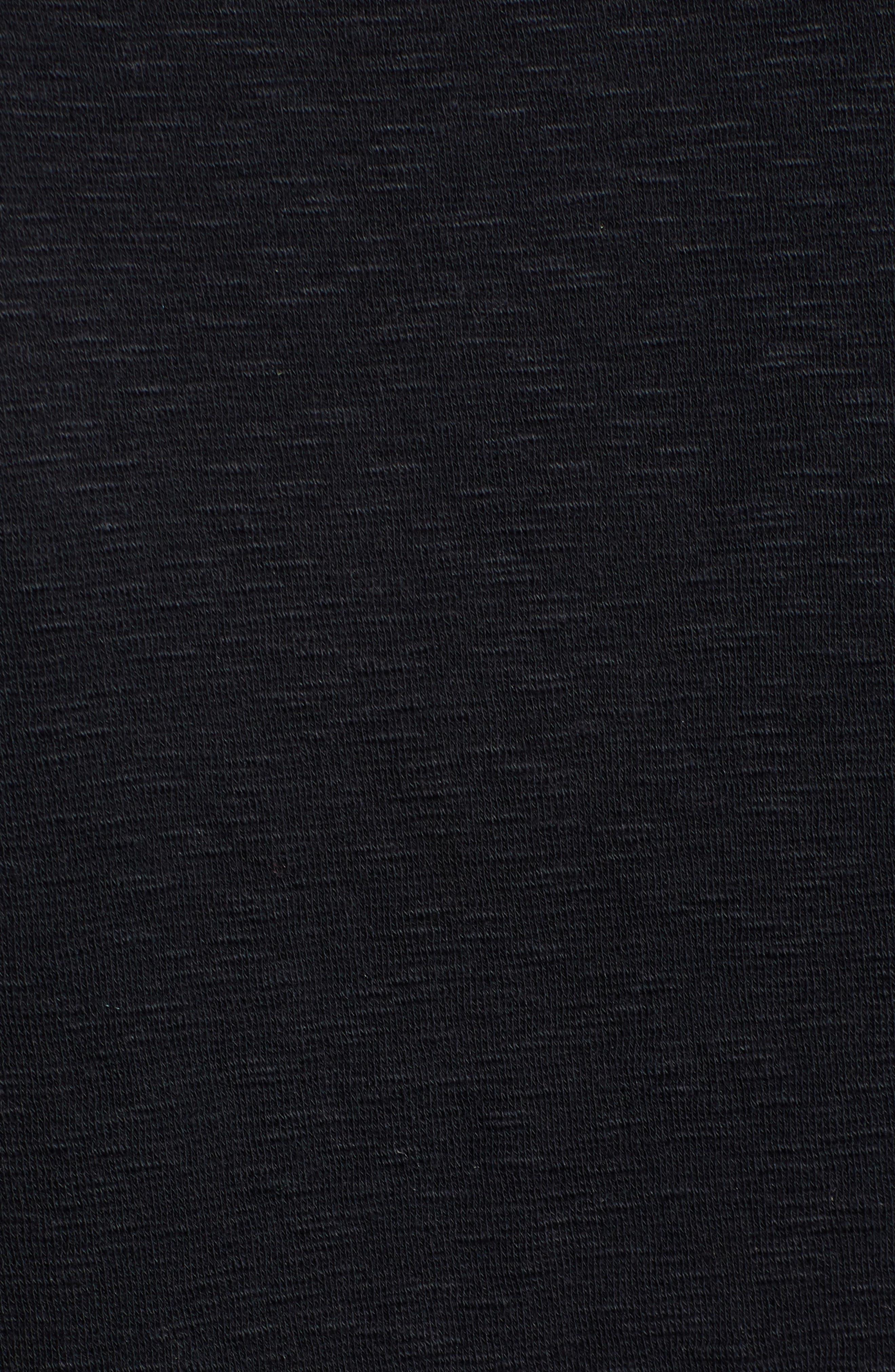 CASLON<SUP>®</SUP>, Slub Knit Dress, Alternate thumbnail 6, color, BLACK