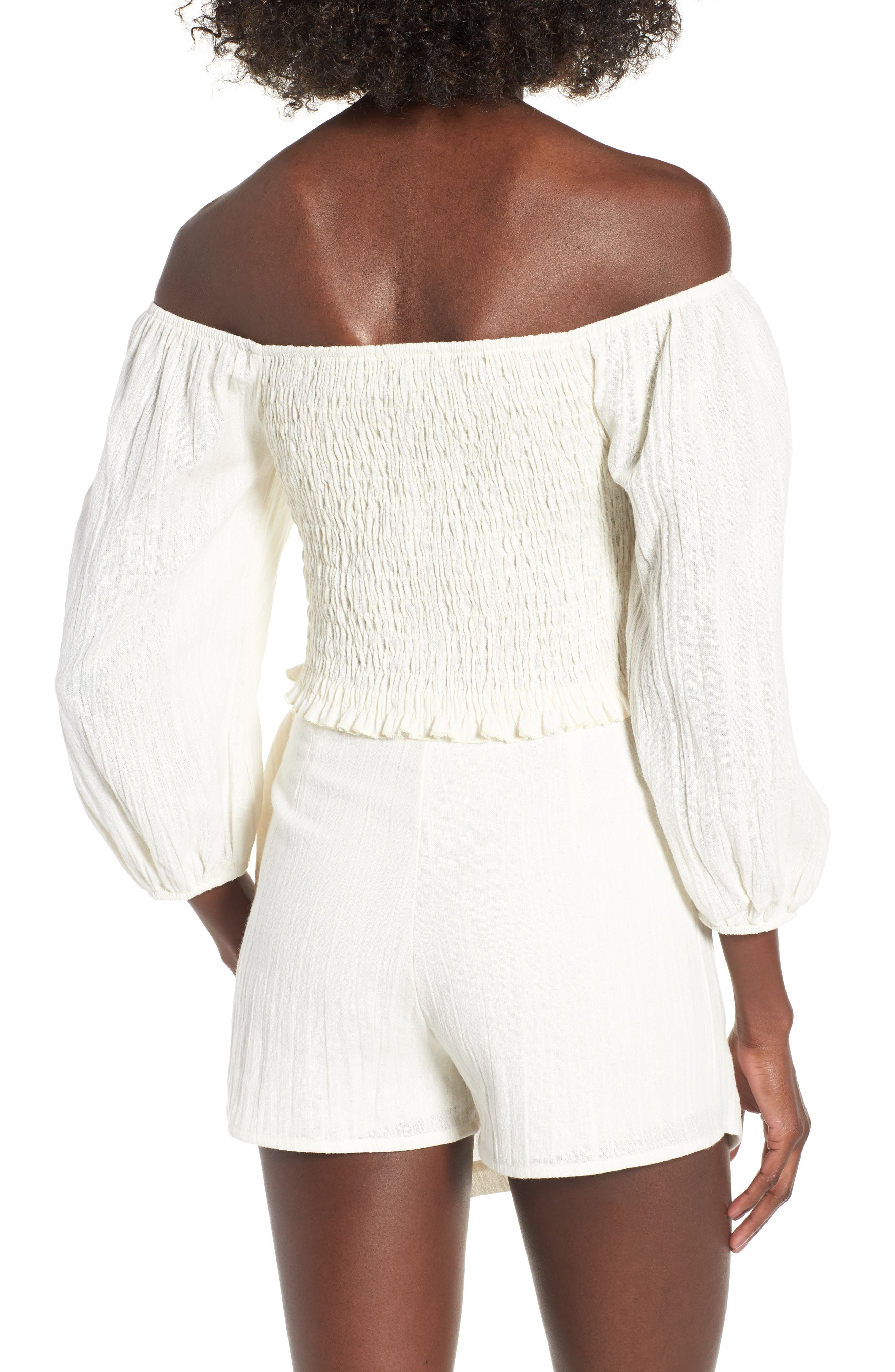 4SI3NNA, Smocked Off the Shoulder Top, Alternate thumbnail 2, color, 900