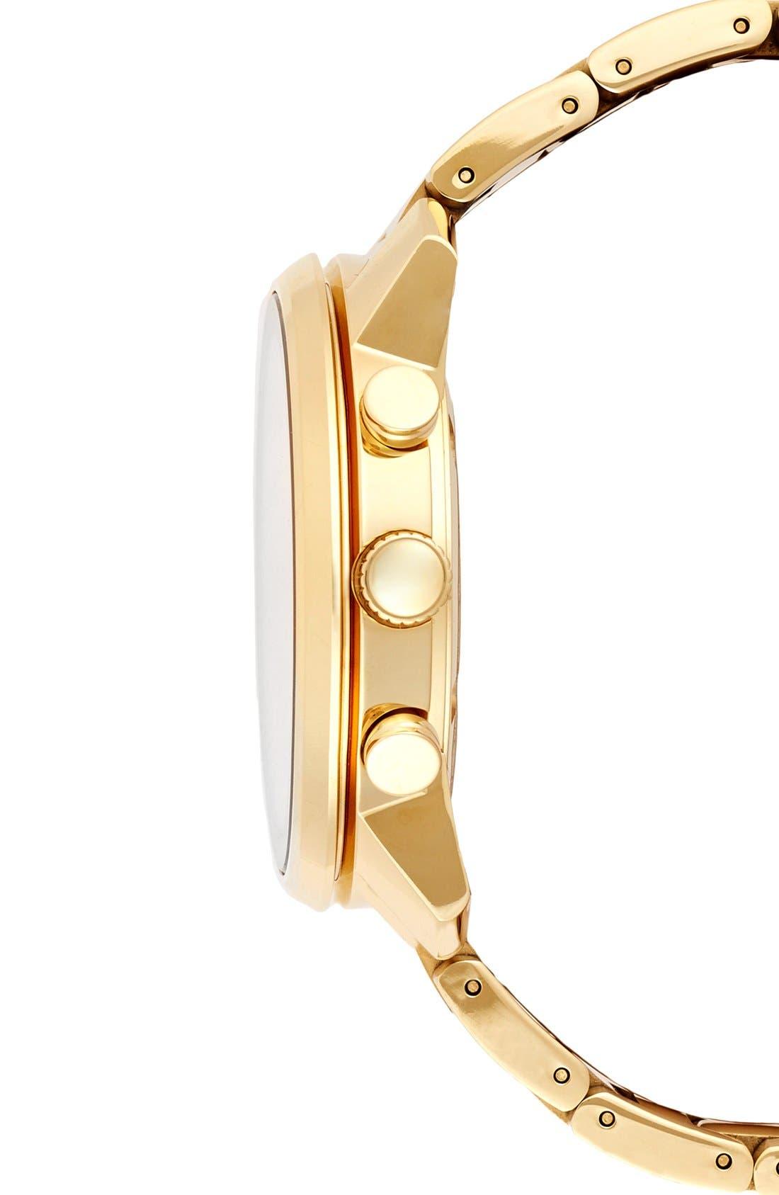 MOVADO, 'Bold' Chronograph Bracelet Watch, 44mm, Alternate thumbnail 2, color, GOLD
