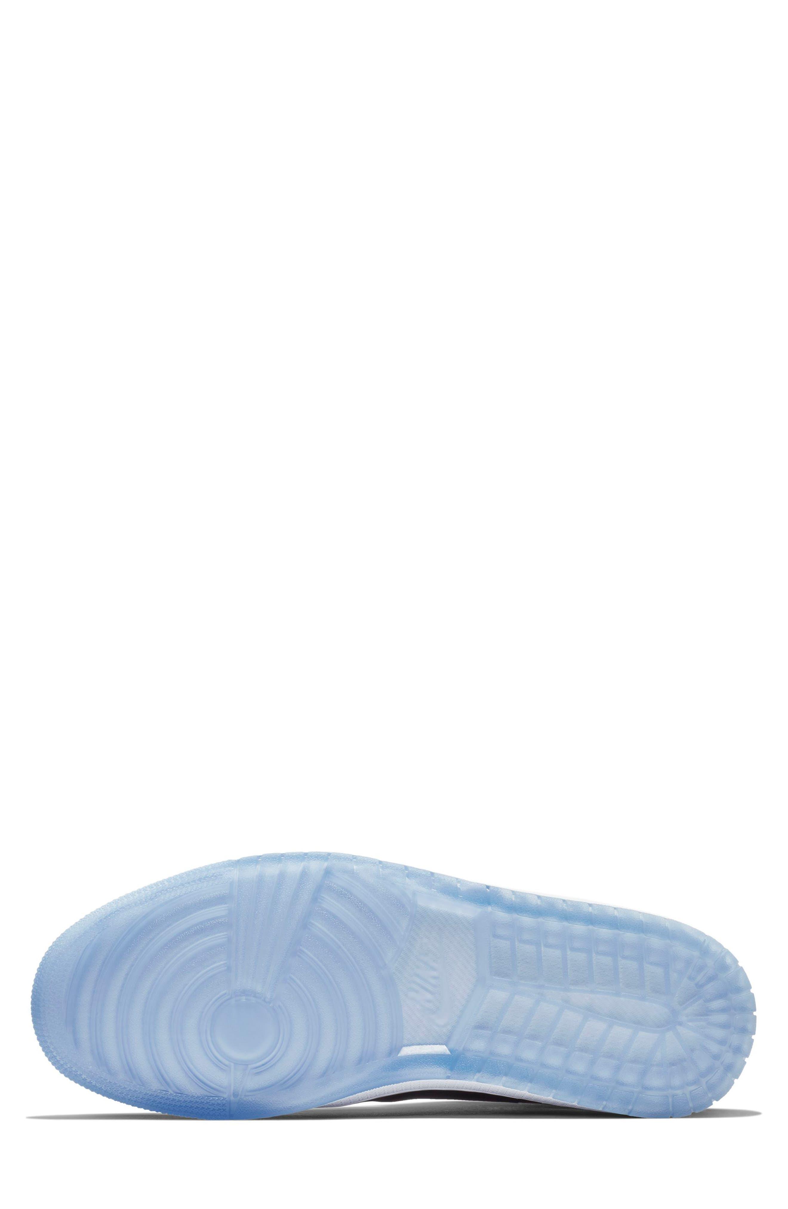 NIKE, Air Jordan 1 Retro High Double Strap Sneaker, Alternate thumbnail 4, color, WHITE/ DARK CONCORD/ BLACK