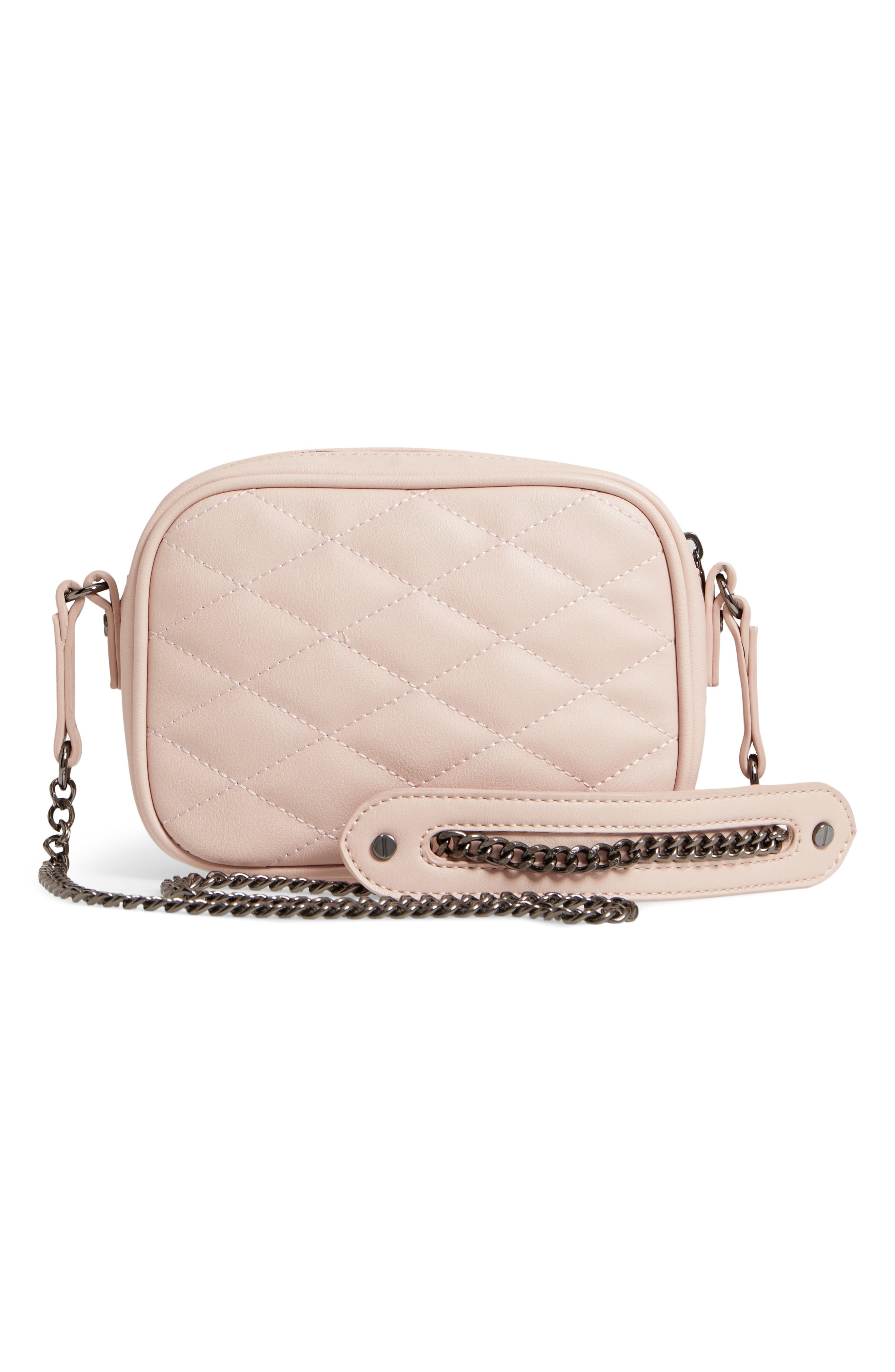 MALI + LILI, Taylor Quilted Vegan Leather Crossbody Camera Bag, Alternate thumbnail 4, color, 650