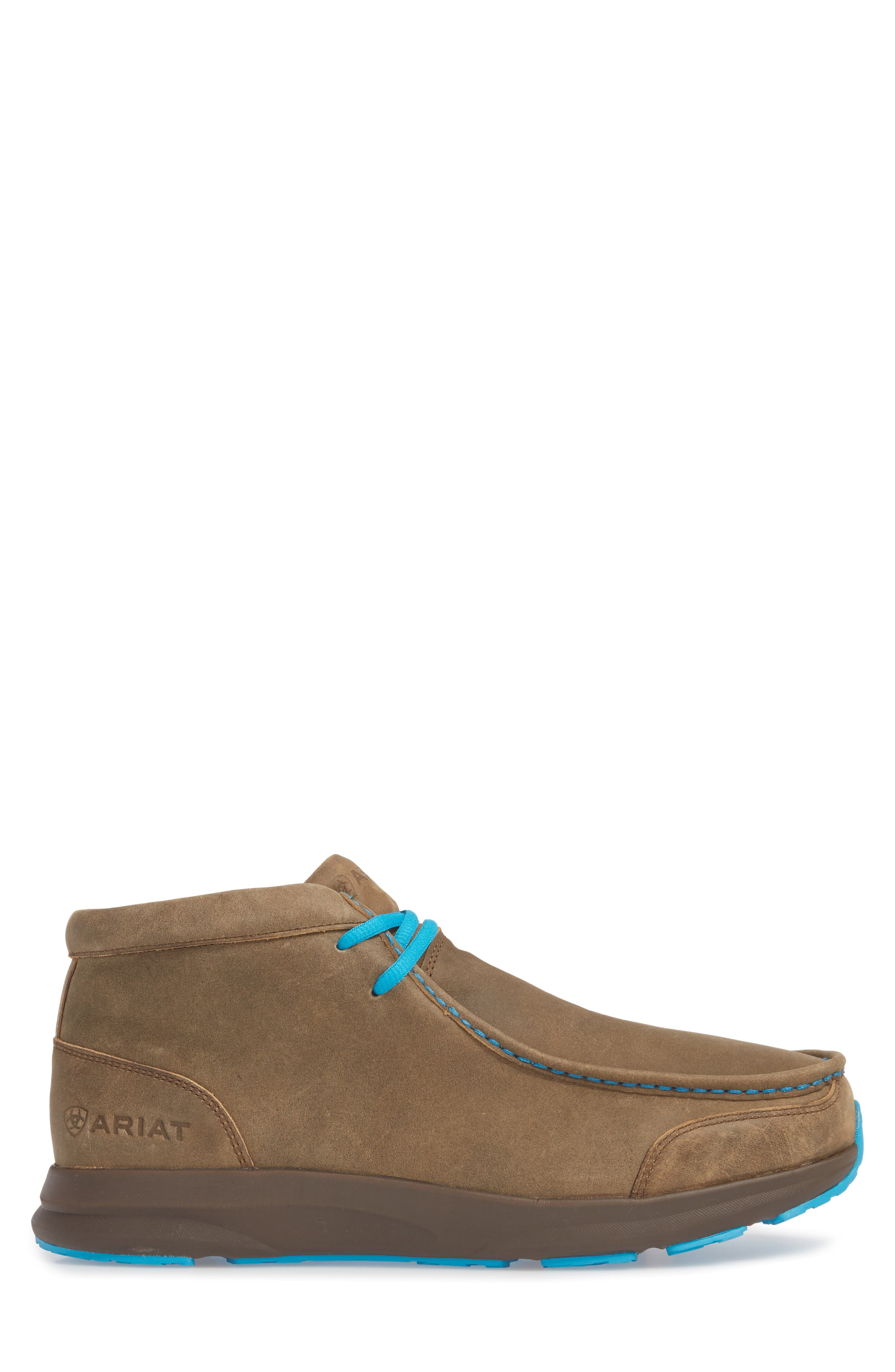 ARIAT, Spitfire Chukka Boot, Alternate thumbnail 3, color, BROWN BOMBER/ BLUE LEATHER