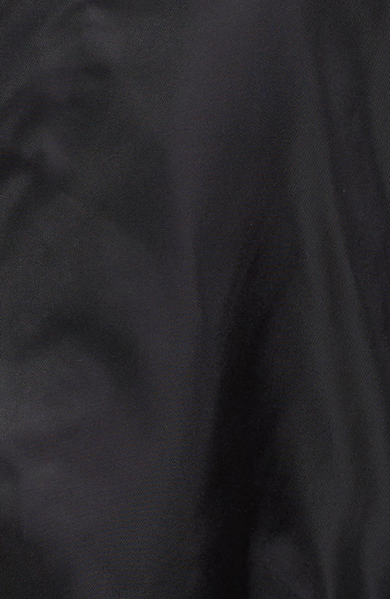 HALOGEN<SUP>®</SUP>, Belted Lightweight Jacket, Alternate thumbnail 7, color, BLACK