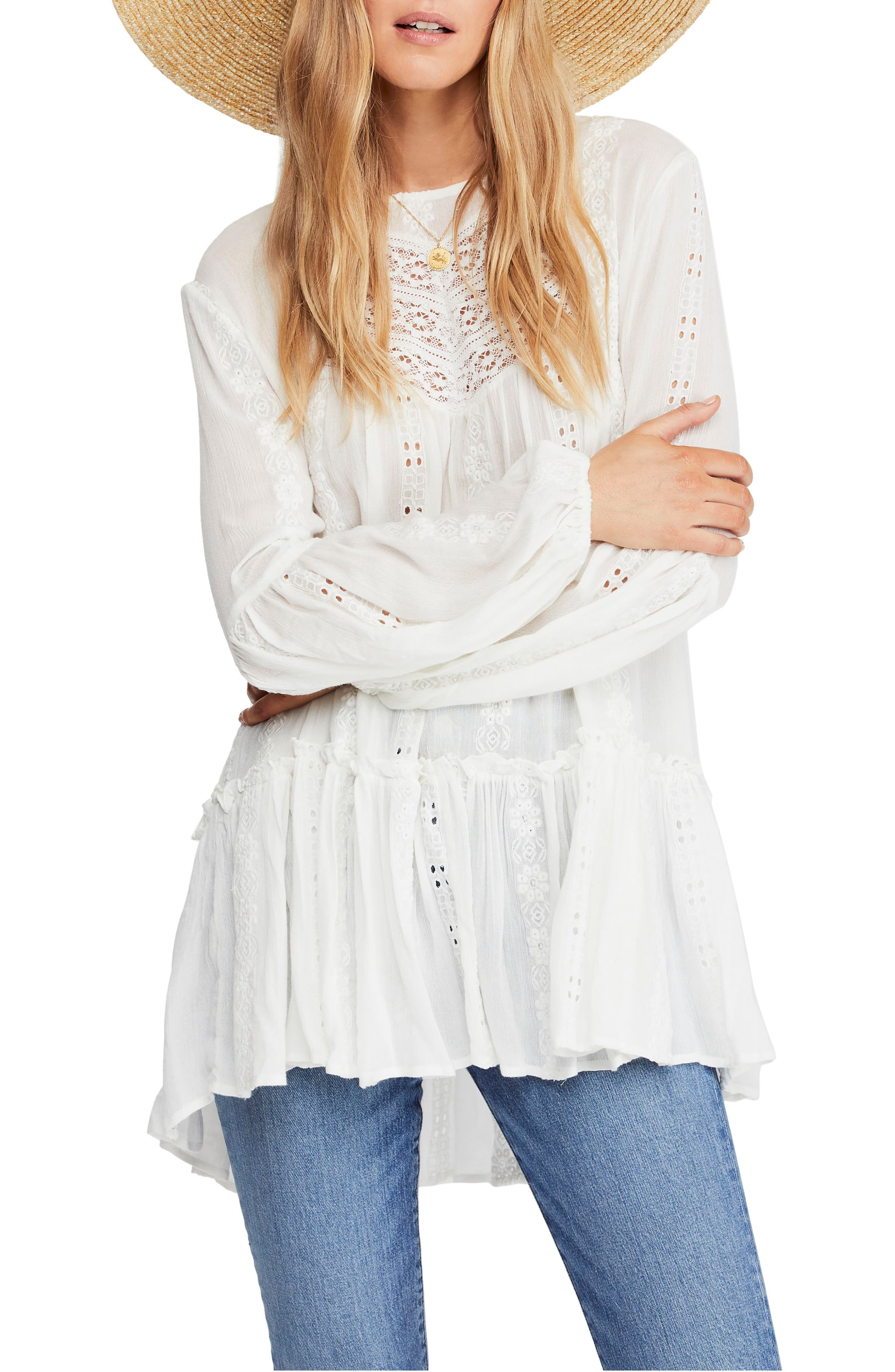 FREE PEOPLE, Kiss Kiss Tunic, Main thumbnail 1, color, 103