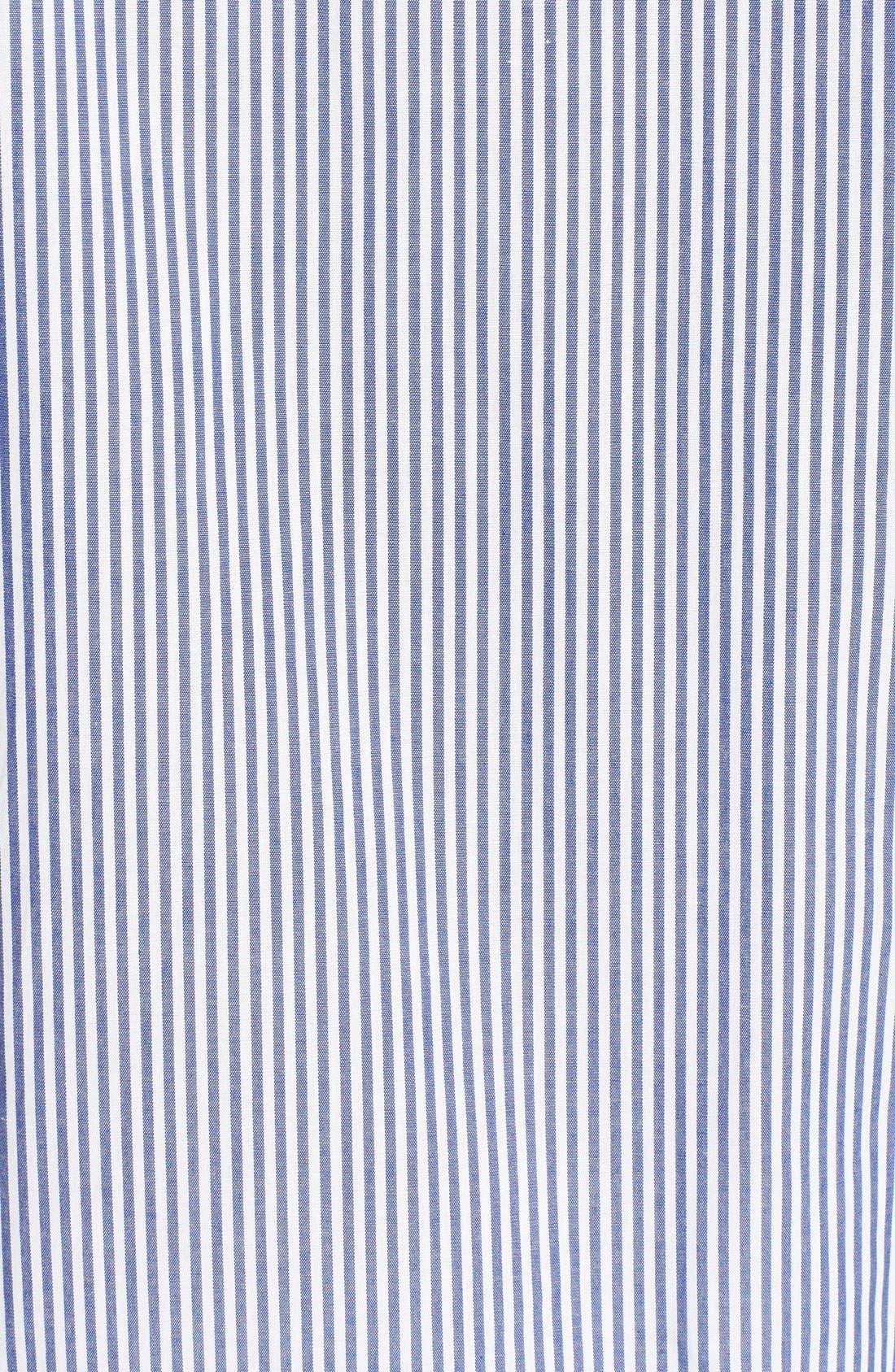 MAJESTIC INTERNATIONAL, Stripe Cotton Pajamas, Alternate thumbnail 3, color, NAVY