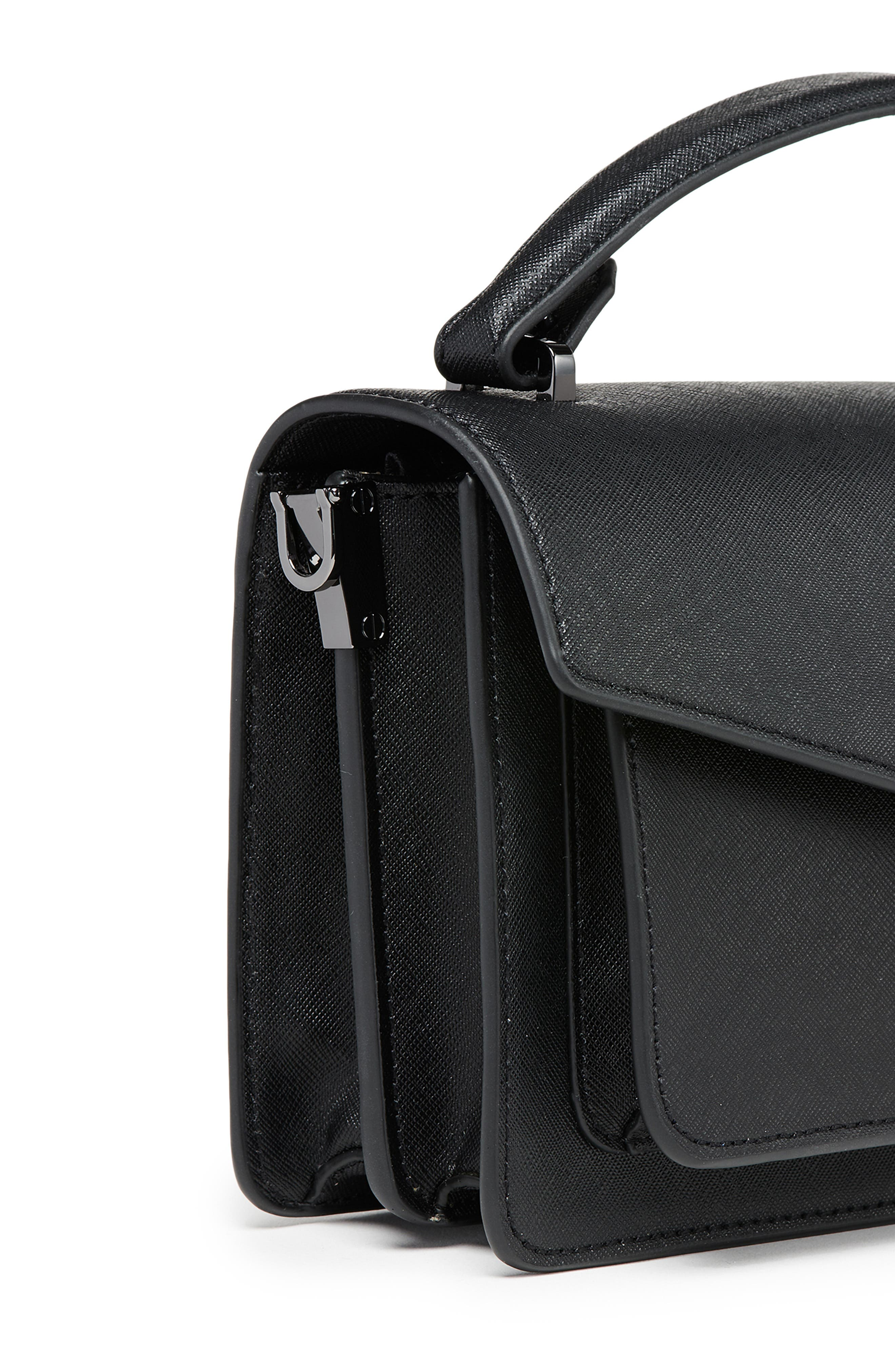BOTKIER, Cobble Hill Leather Crossbody Bag, Alternate thumbnail 8, color, BLACK
