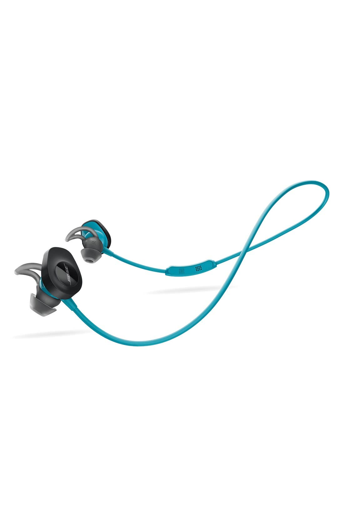 BOSE<SUP>®</SUP>, SoundSport<sup>®</sup> Wireless Headphones, Alternate thumbnail 8, color, AQUA