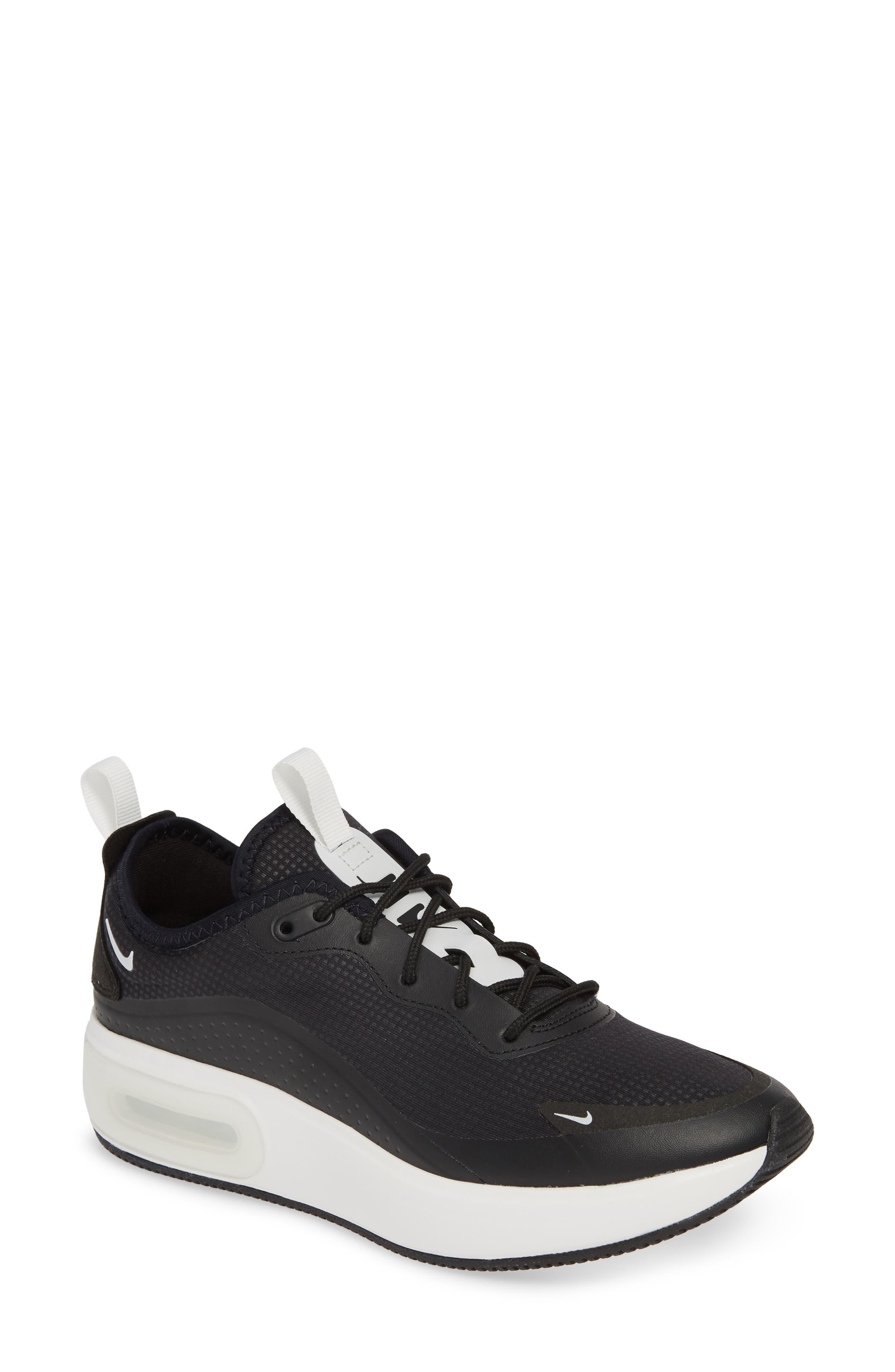 NIKE Air Max Dia Sneaker, Main, color, BLACK/ SUMMIT WHITE