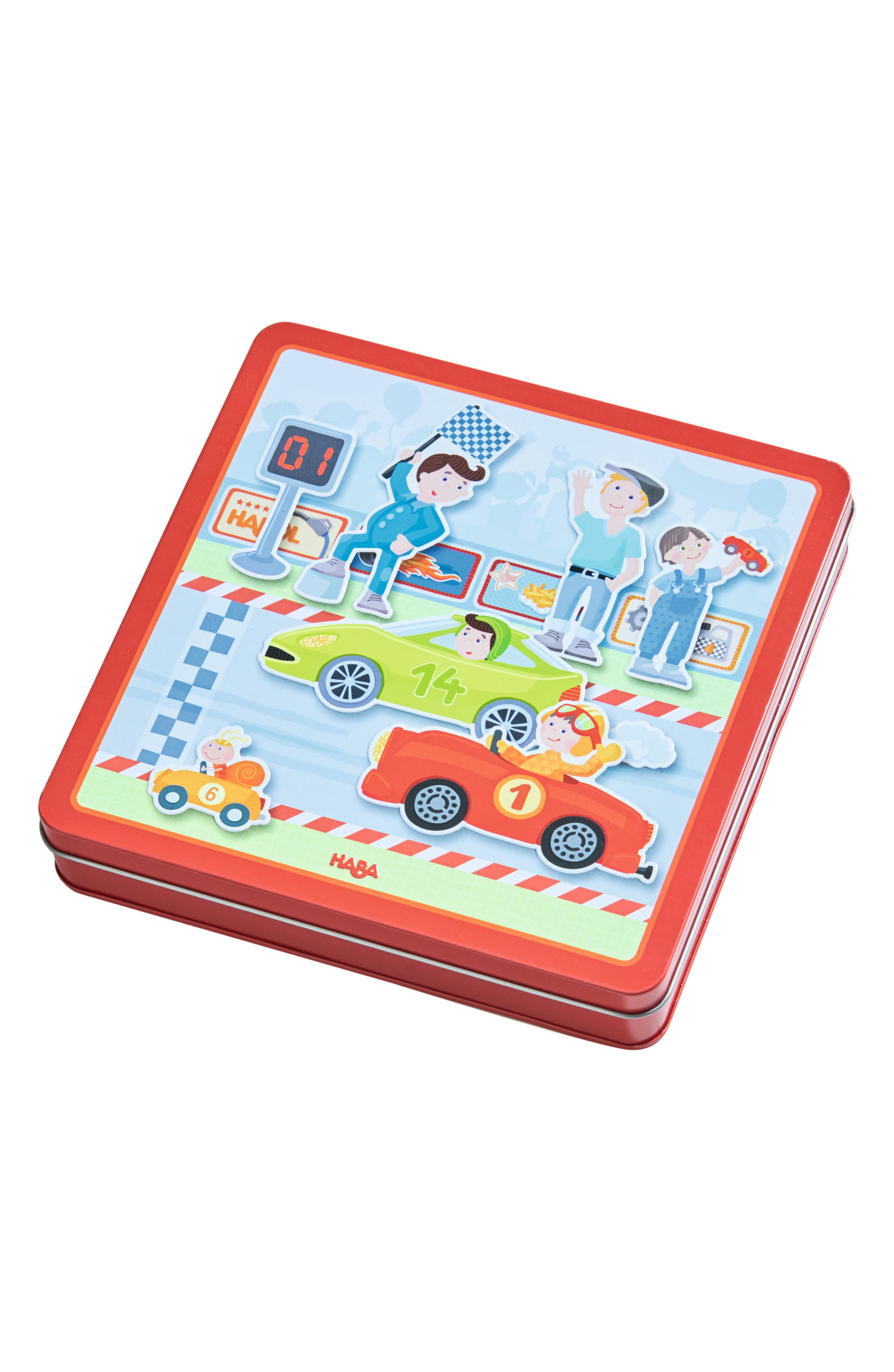 HABA Zippy Cards Magnetic Activity Game, Main, color, RED