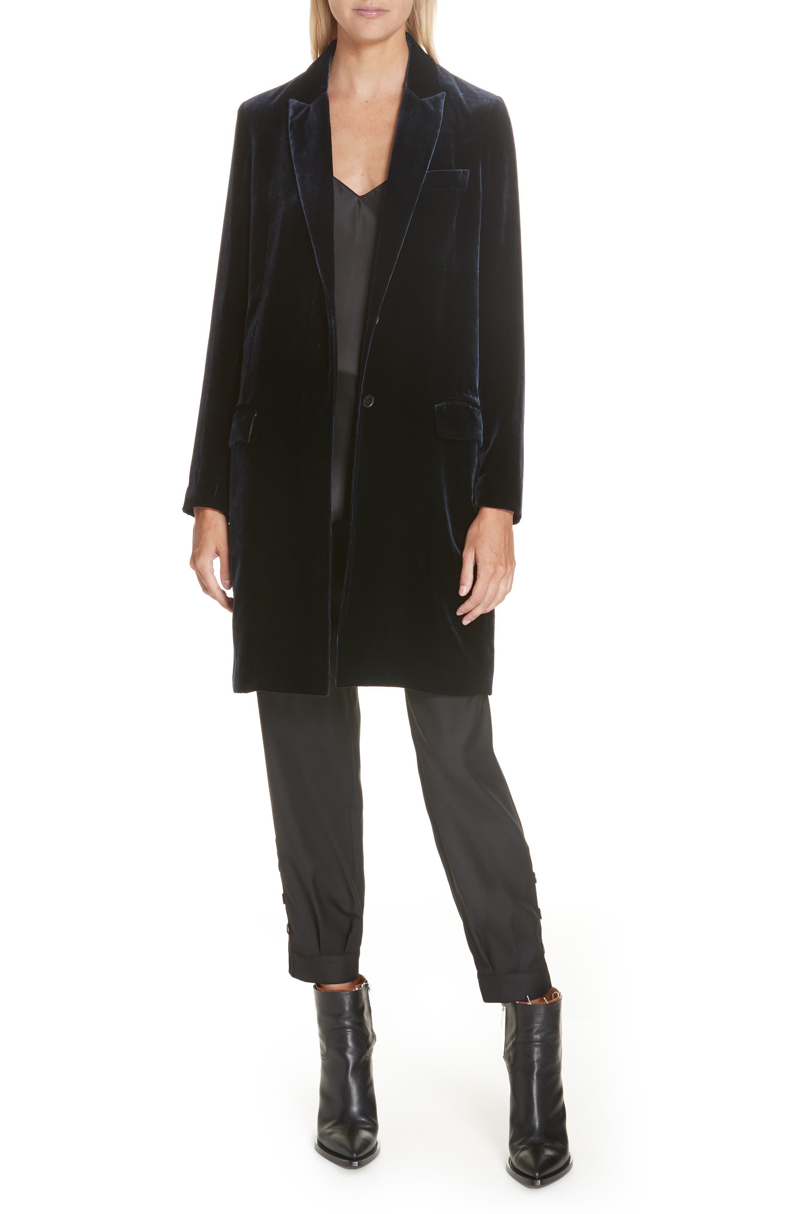 NILI LOTAN, Bertina Pleated Wool Crop Pants, Alternate thumbnail 8, color, BLACK