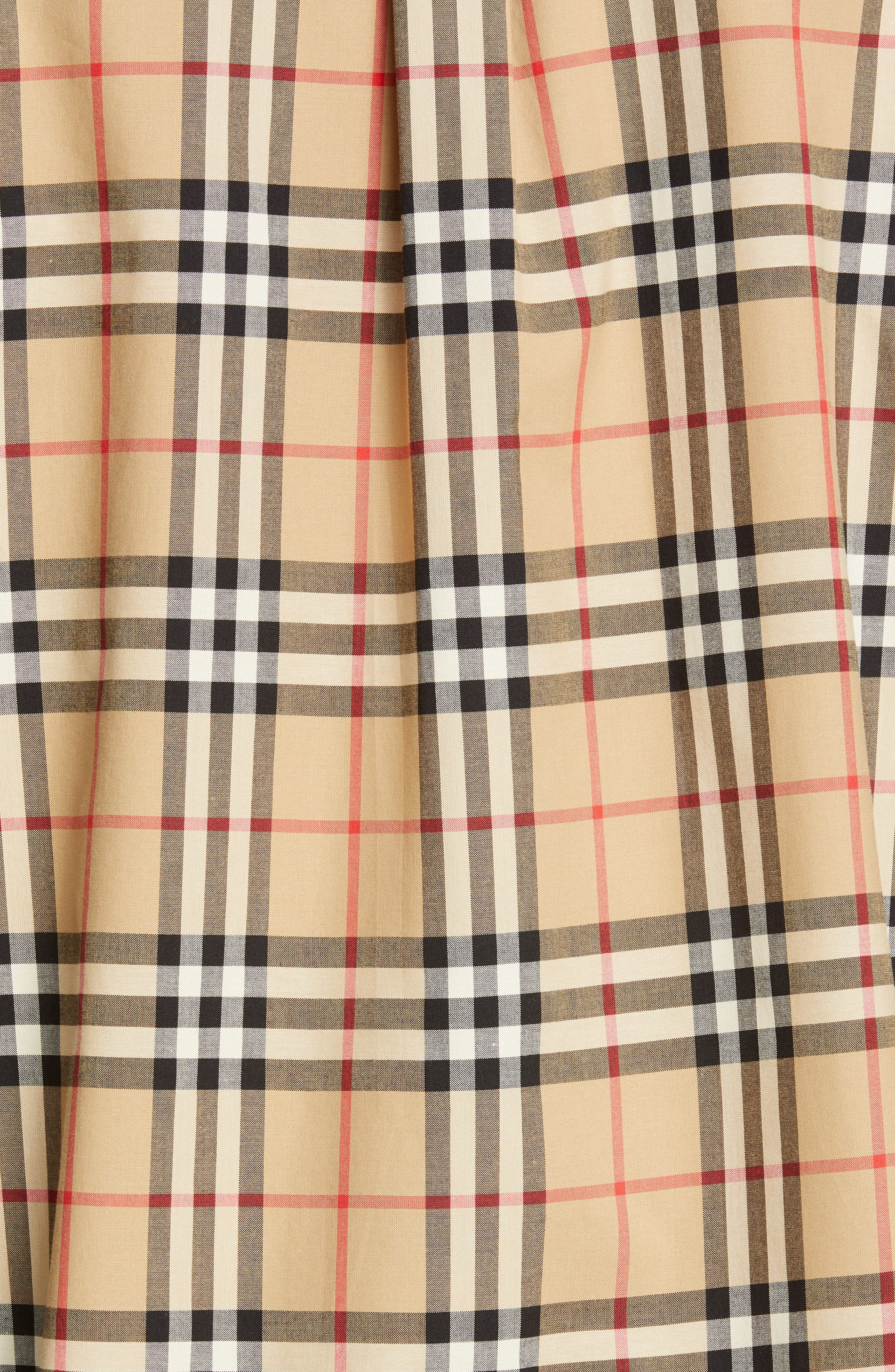 BURBERRY, Turnstone Check Shirt, Alternate thumbnail 5, color, ARCHIVE BEIGE IP CHK