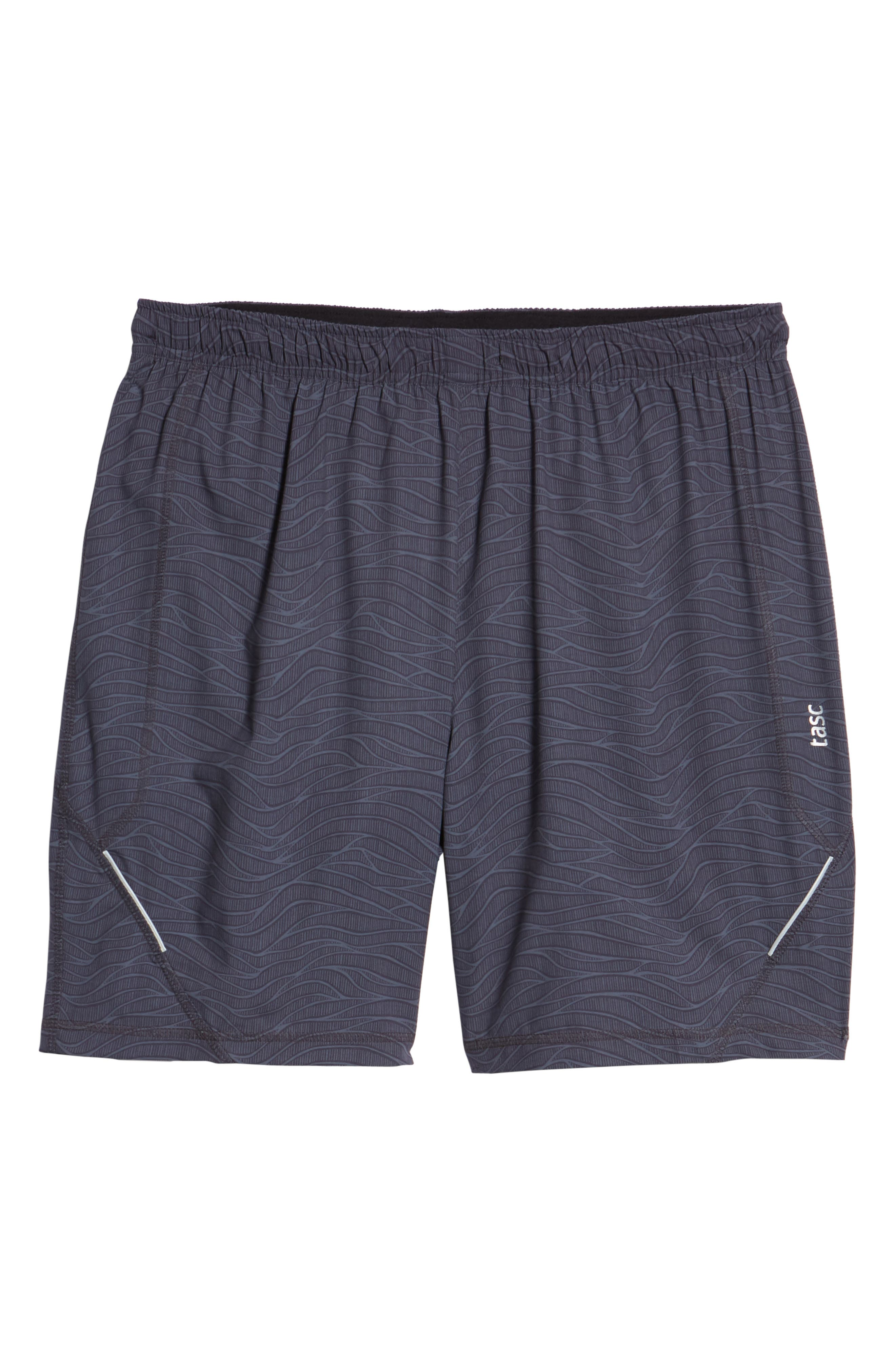 TASC PERFORMANCE, Propulsion Athletic Shorts, Alternate thumbnail 7, color, BLACK SONIC WAVE