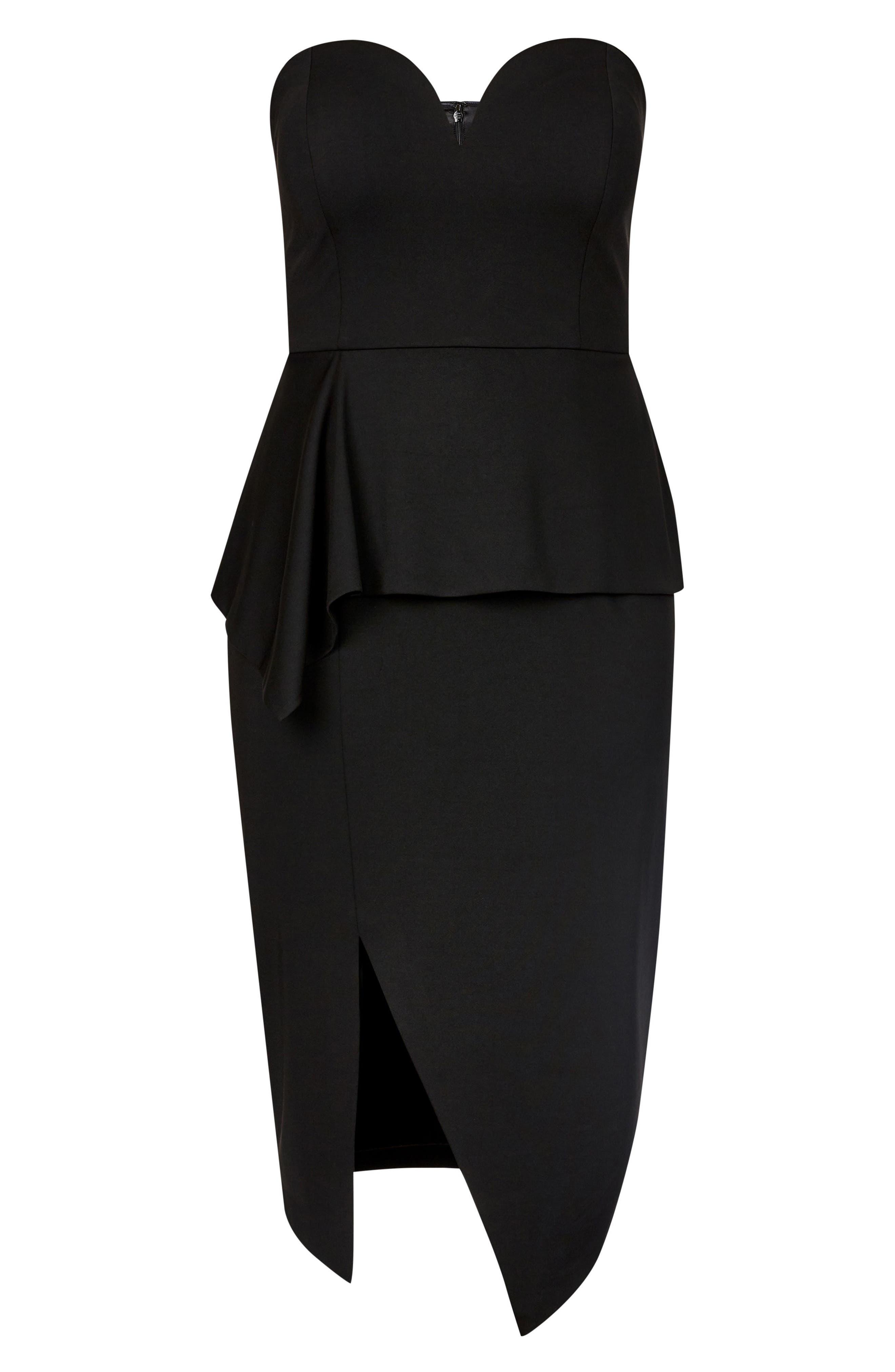 CITY CHIC, Screen Siren Dress, Alternate thumbnail 5, color, BLACK