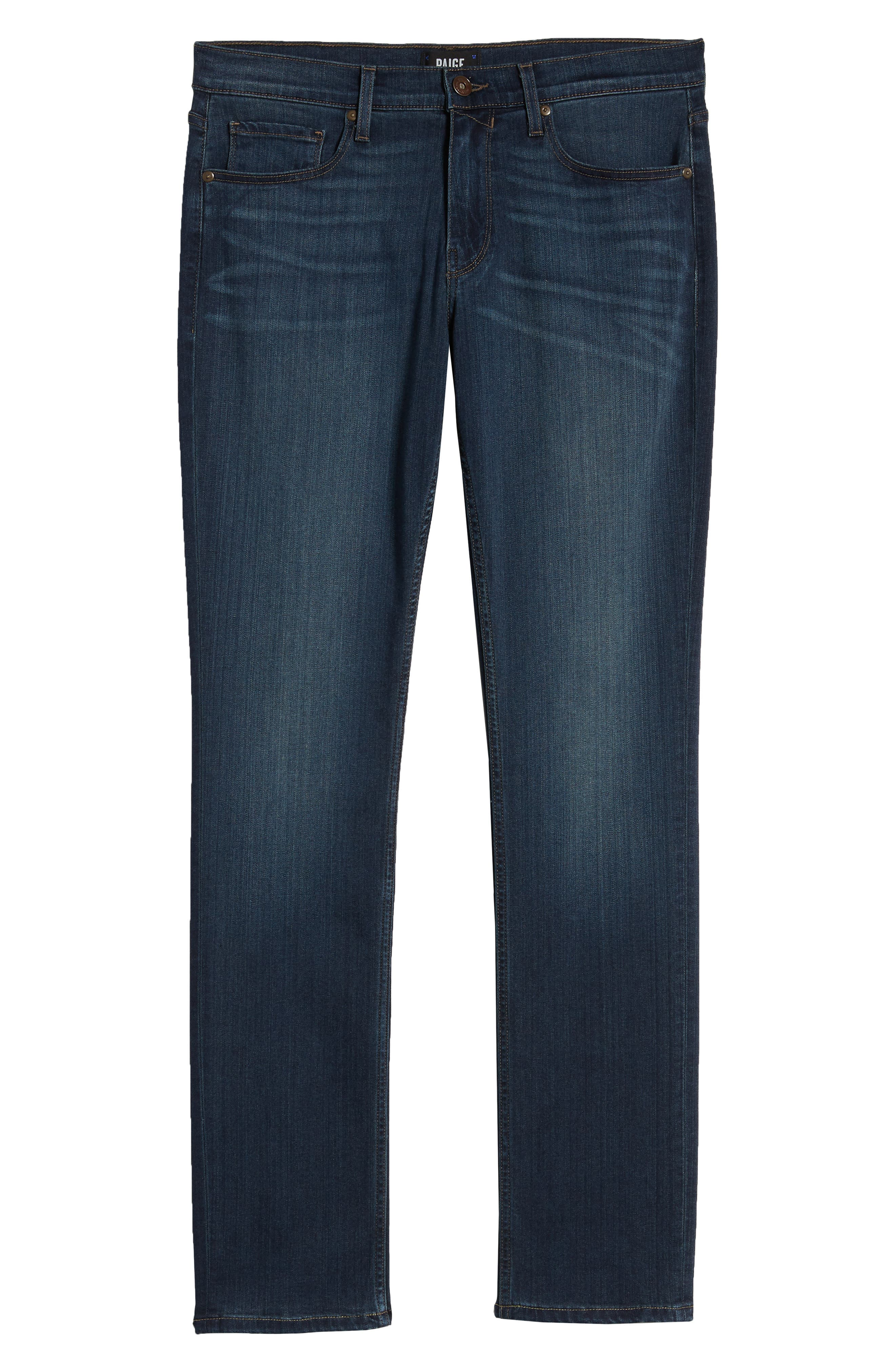 PAIGE, 'Federal' Slim Straight Leg Jeans, Alternate thumbnail 8, color, BLAKELY