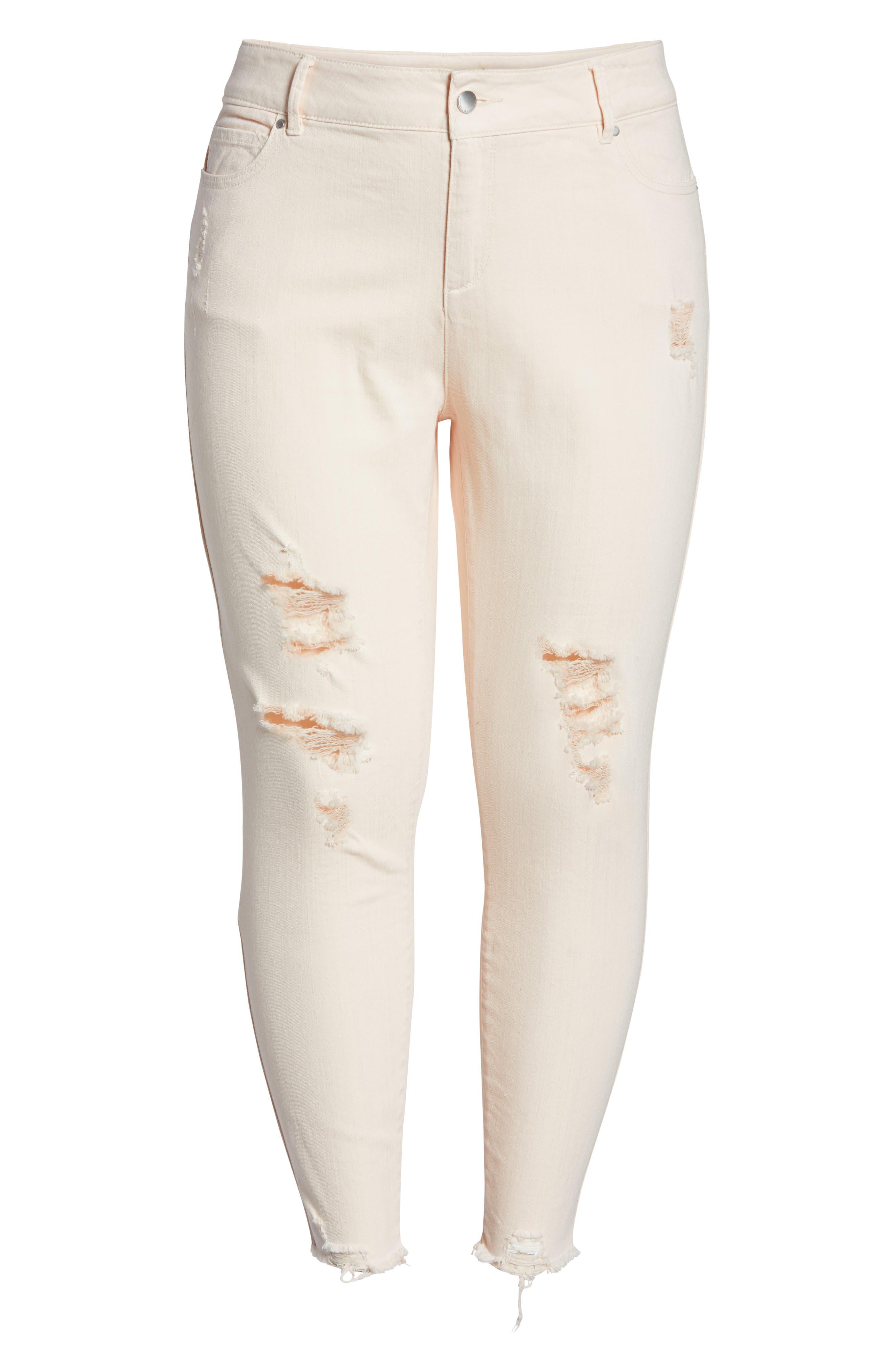 RACHEL RACHEL ROY, Icon Distressed Skinny Jeans, Alternate thumbnail 6, color, 680