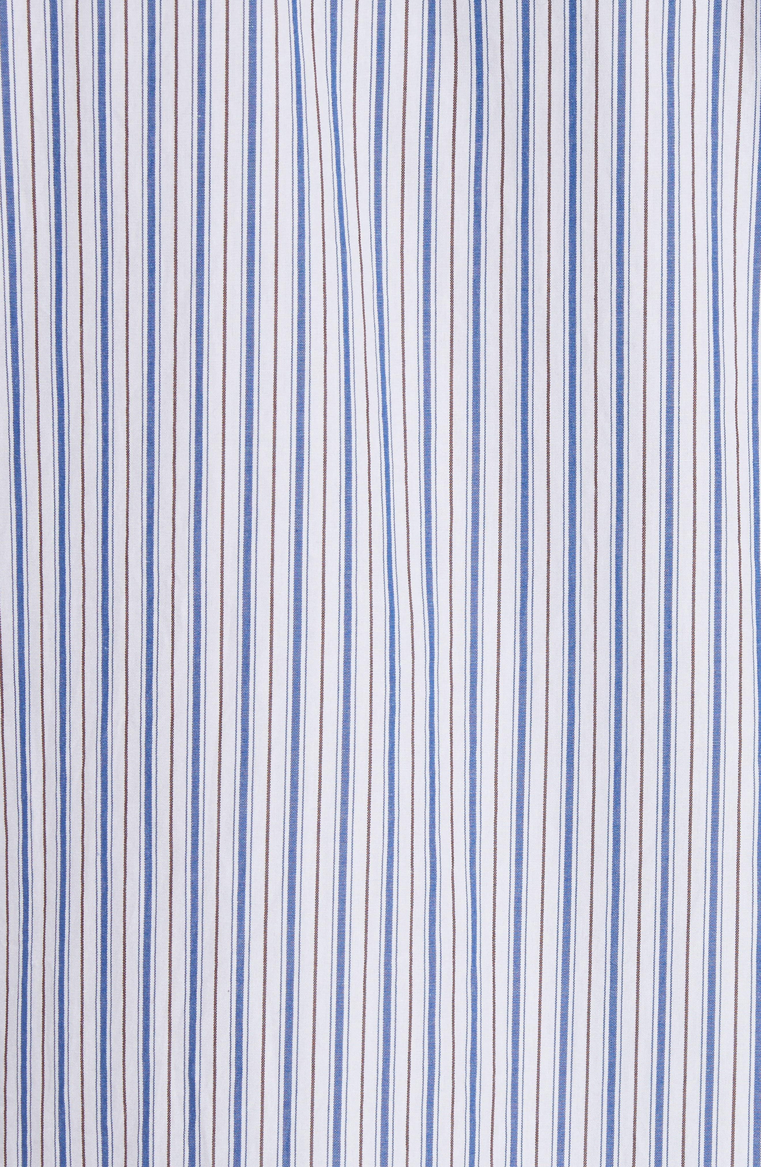 COMME DES GARÇONS PLAY, Black Heart Stripe Oxford Shirt, Alternate thumbnail 2, color, BLUE