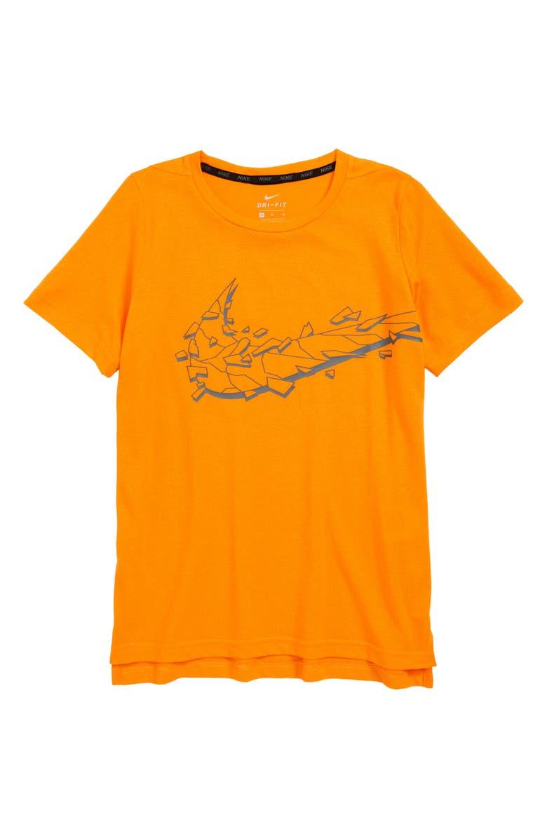 c2694e82 NIKE Dri-FIT Breathe Swoosh Graphic Shirt, Main, color, ORANGE PEEL /