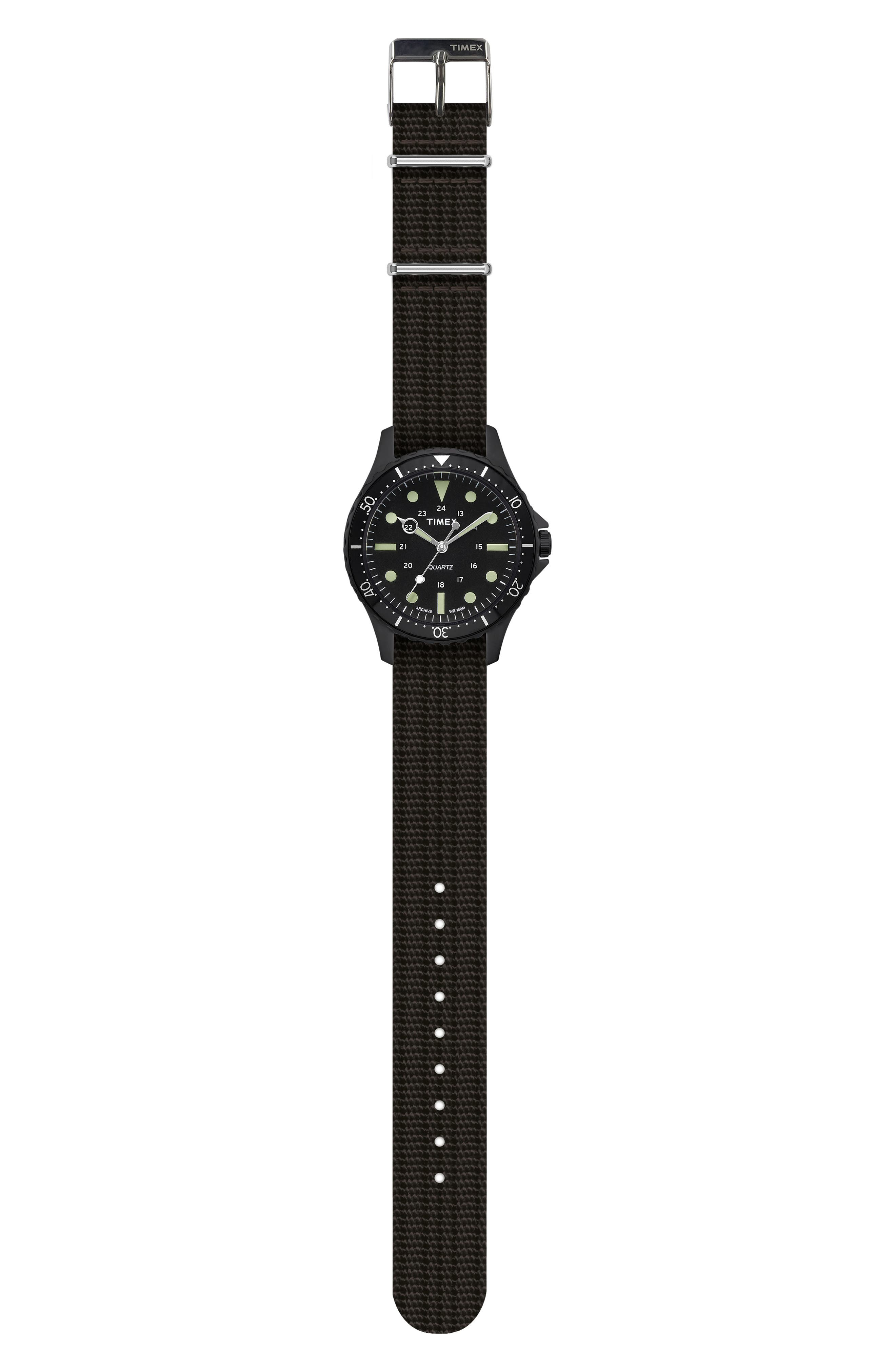 TIMEX<SUP>®</SUP> ARCHIVE, Navi Harbor NATO Strap Watch, 38mm, Alternate thumbnail 2, color, 001
