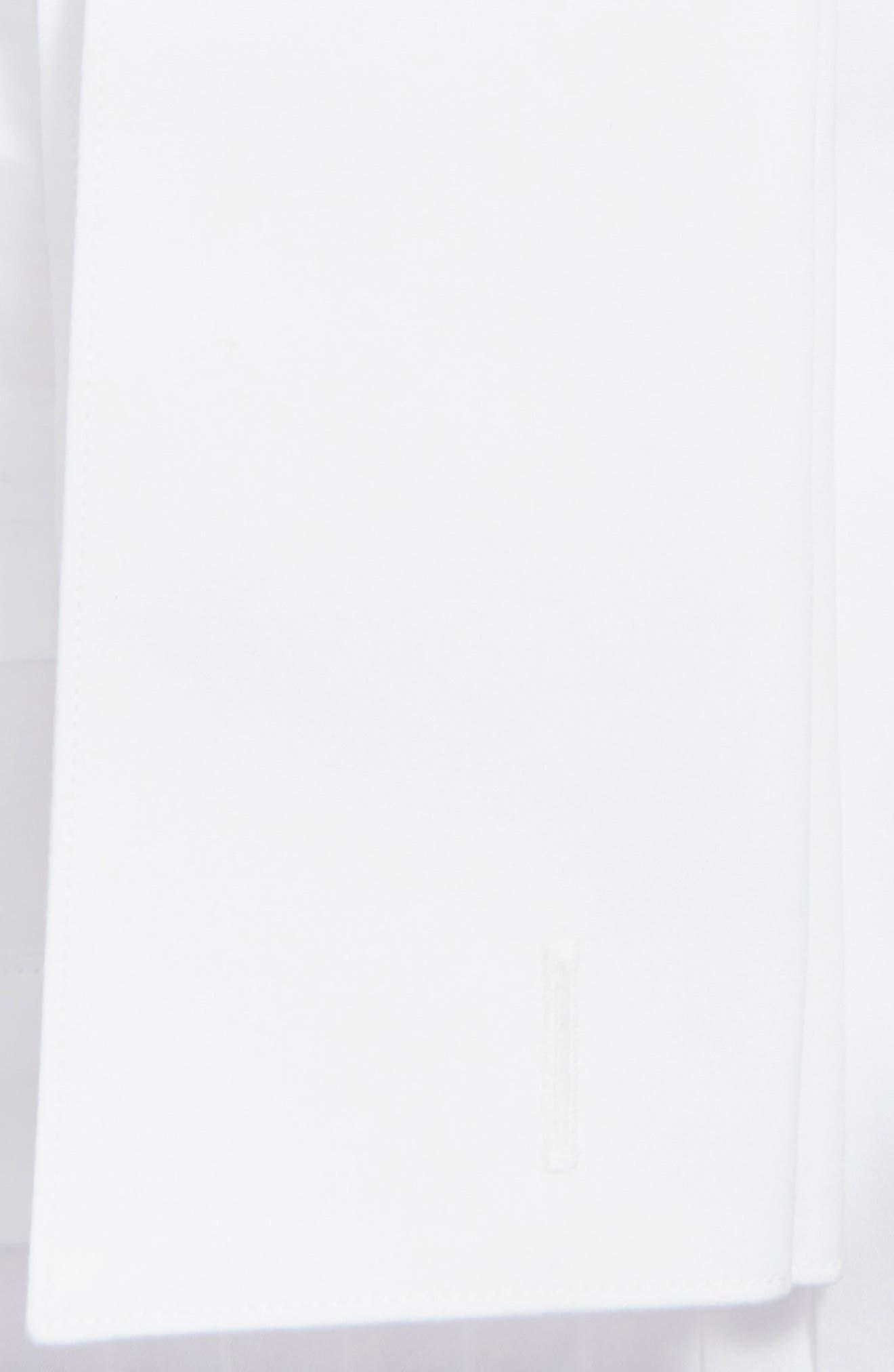DAVID DONAHUE, Regular Fit French Cuff Tuxedo Shirt, Alternate thumbnail 2, color, WHITE