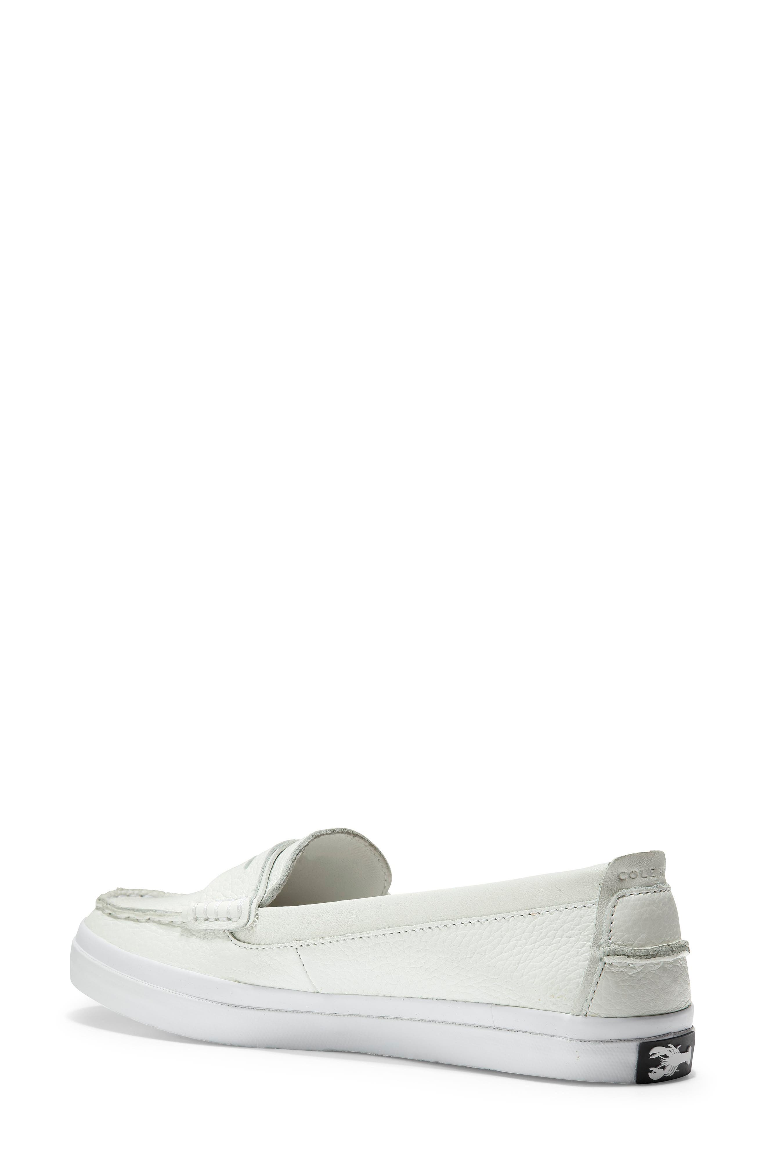 COLE HAAN, Pinch LX Loafer, Alternate thumbnail 2, color, OPTIC WHITE LEATHER