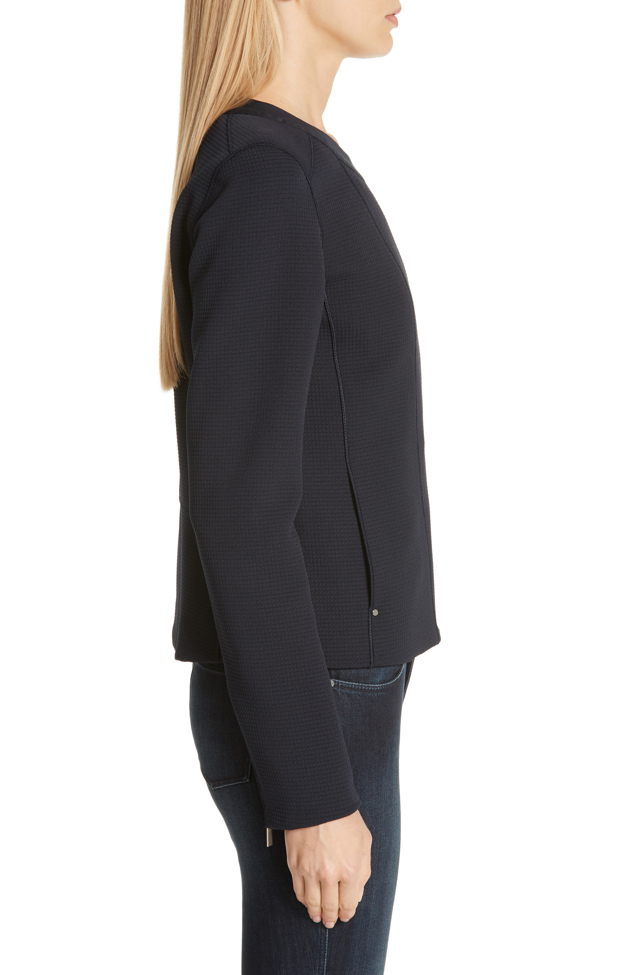 LAFAYETTE 148 NEW YORK, Trista Moto Jacket, Alternate thumbnail 4, color, INK