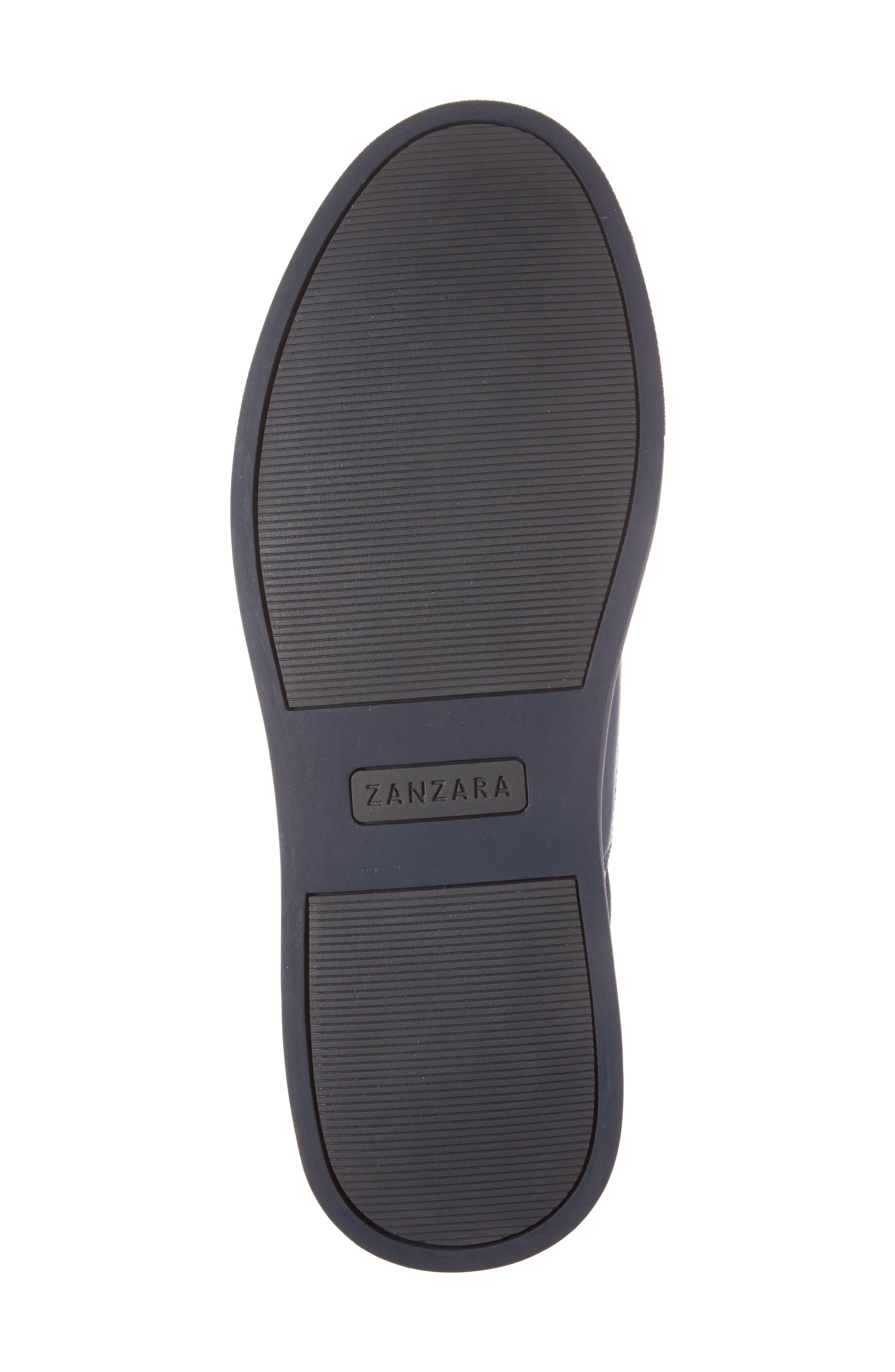 ZANZARA, Harmony Sneaker, Alternate thumbnail 6, color, BLUE LEATHER