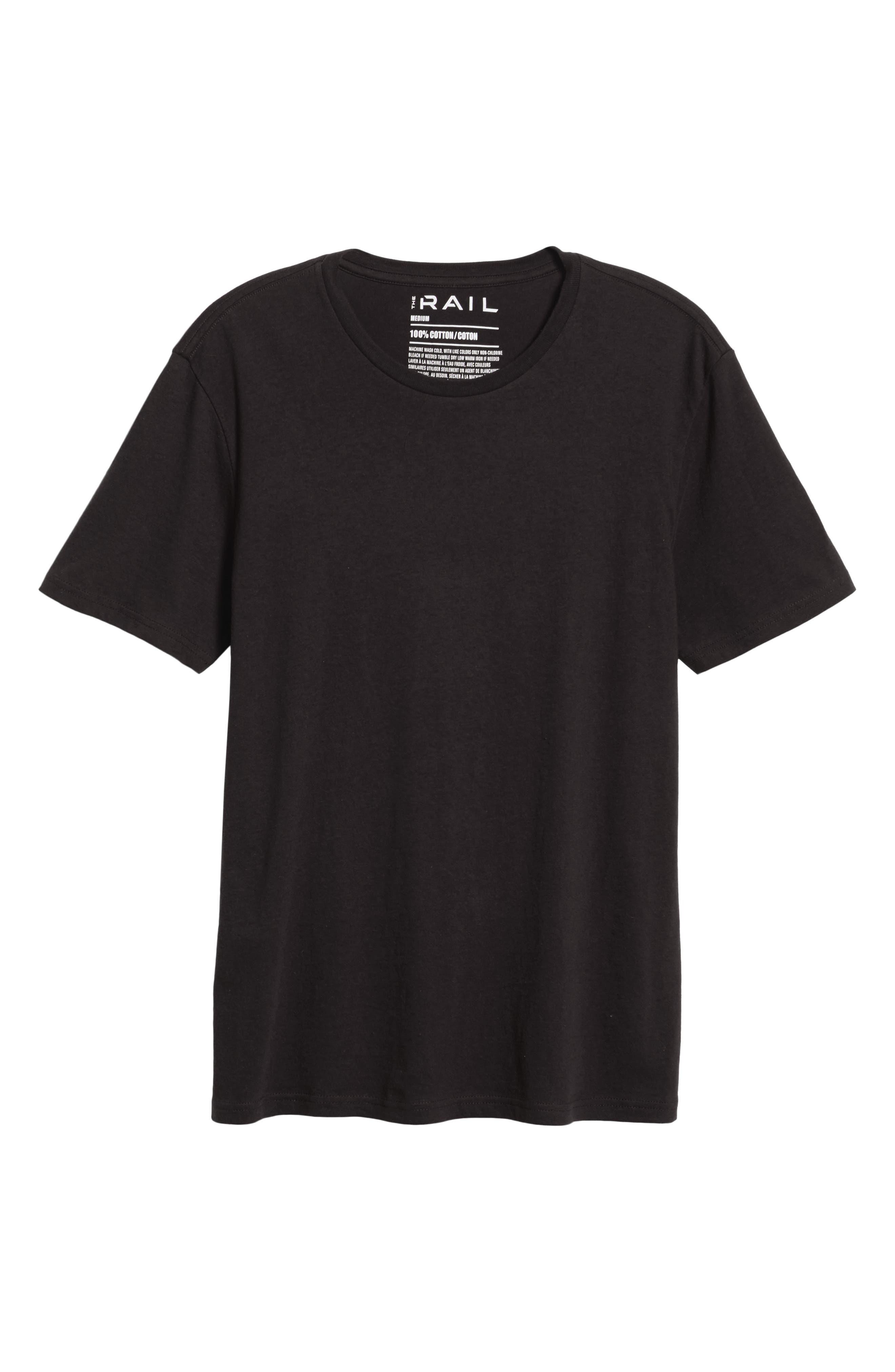 THE RAIL Slim Fit Crewneck T-Shirt, Main, color, BLACK