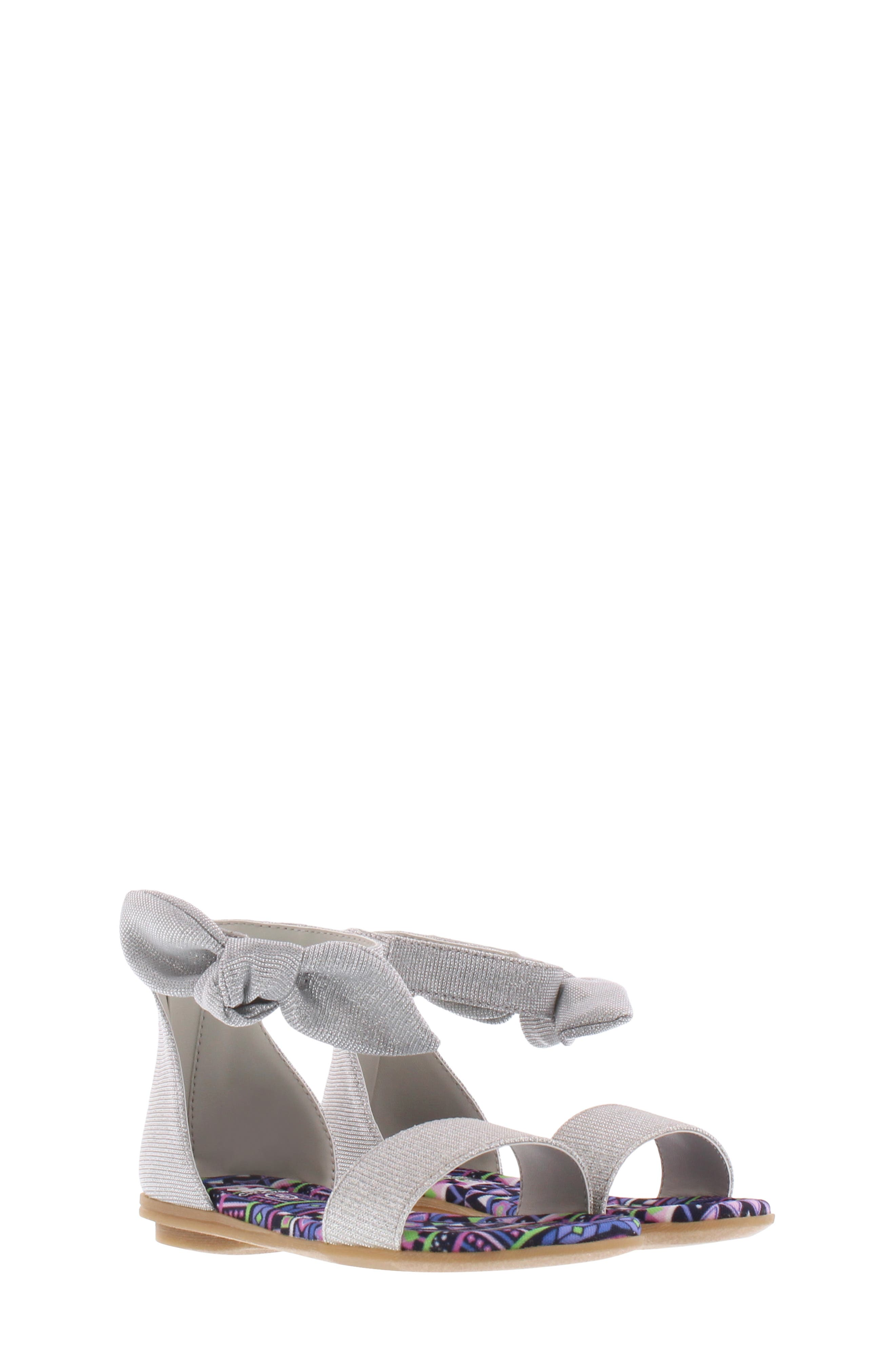 CHOOZE Bright Daisy Sandal, Main, color, SILVER