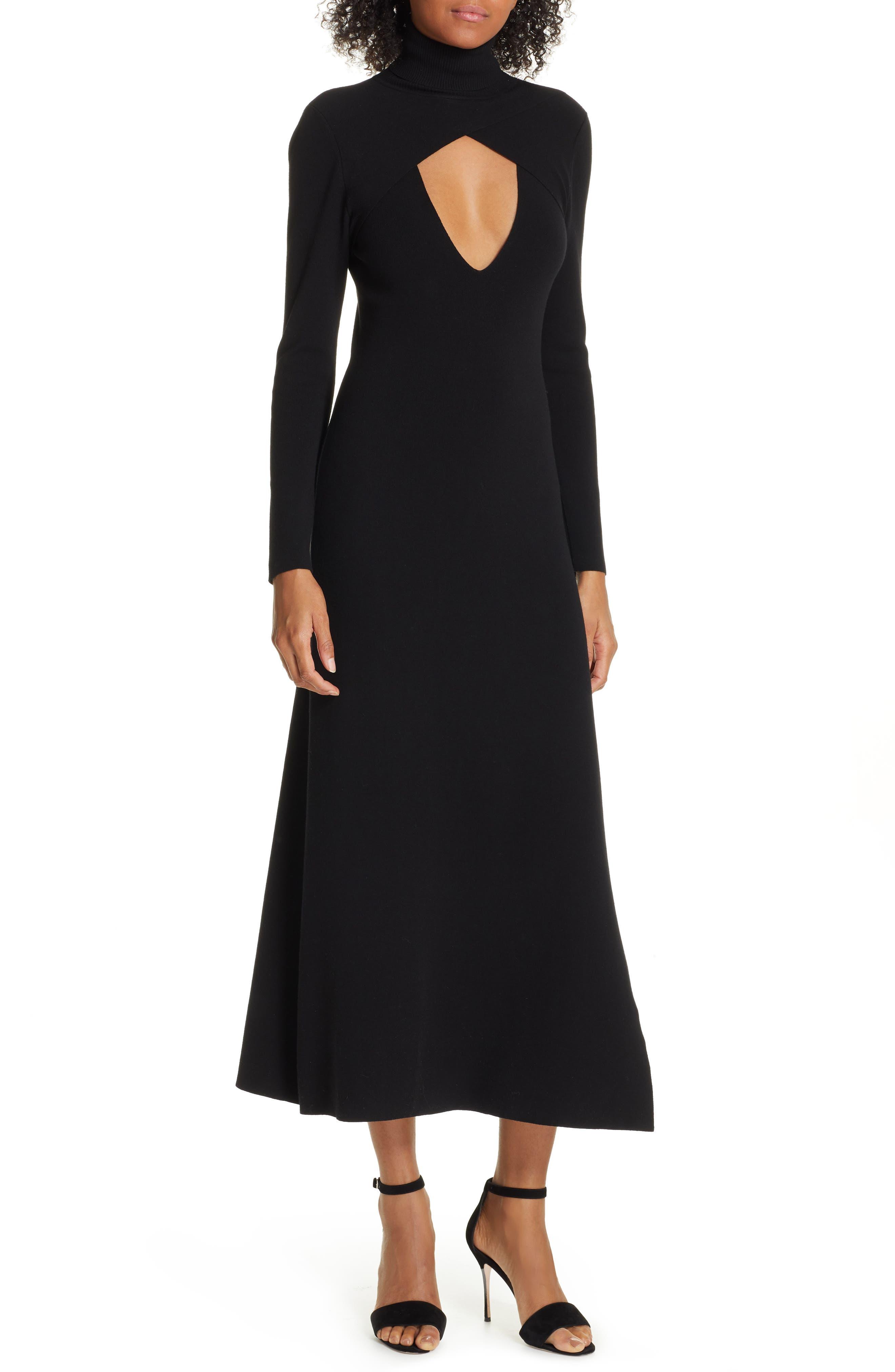A.l.c. Juno Wool Blend Dress, Black