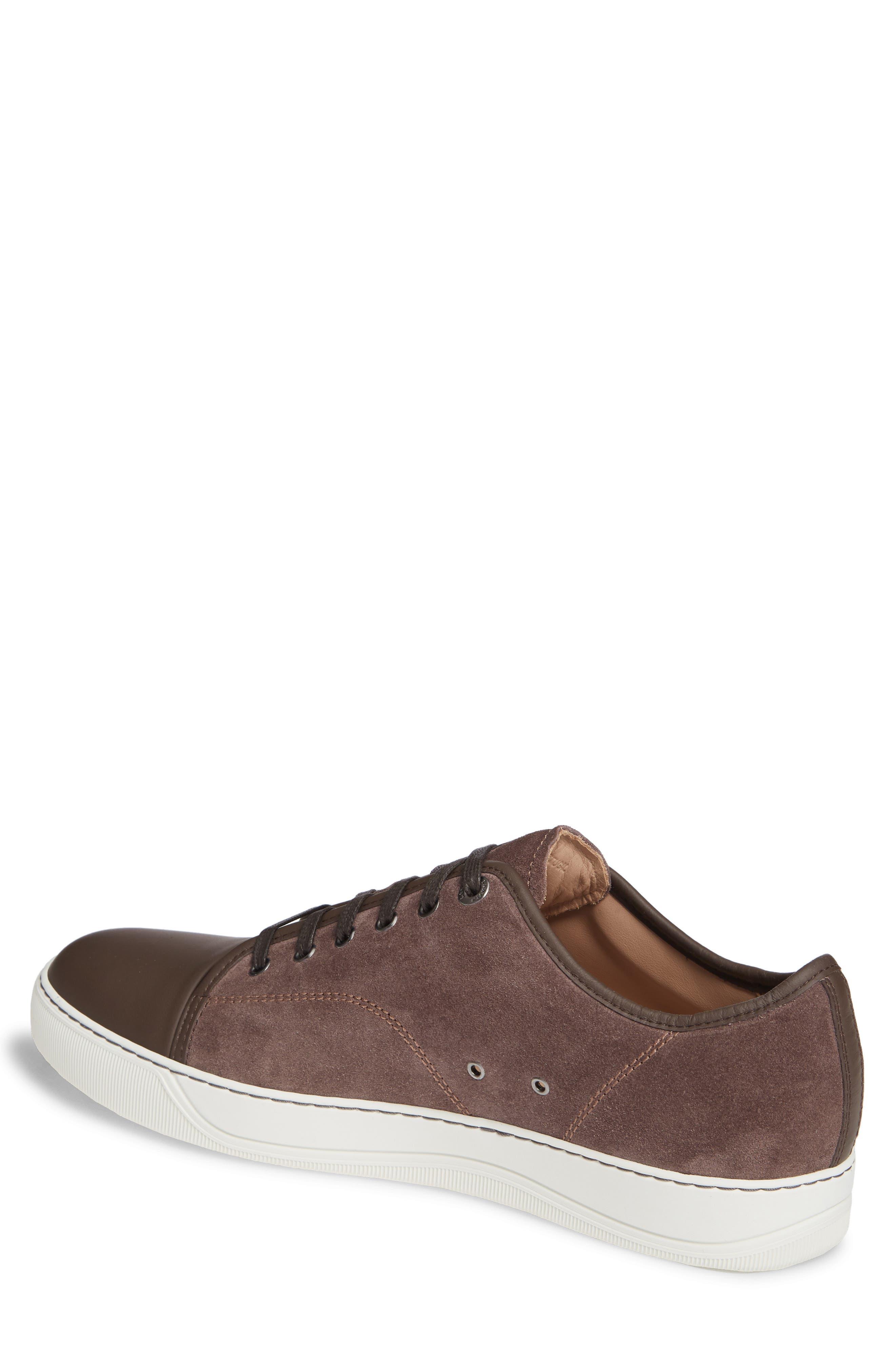 LANVIN, Low Top Sneaker, Alternate thumbnail 2, color, CLAY